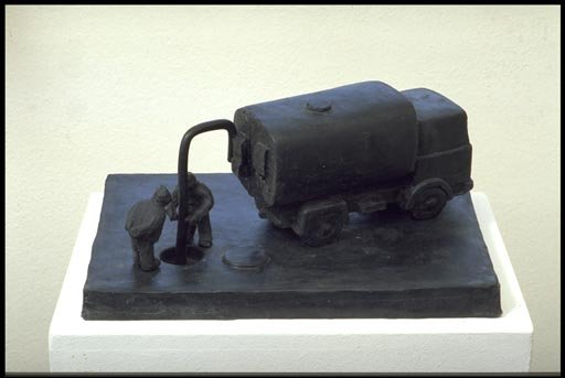 Fischli and Weiss (1987)  Sewer Workers.  Cast Rubber. 265 x 475 x 190 mm