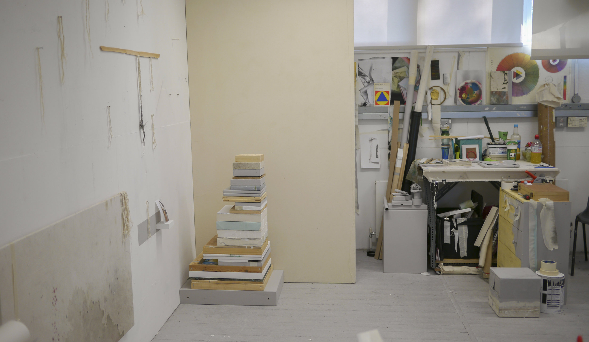 Ally McGinn (2017) [Studio view].  There is an interesting divide between 'studio' and 'gallery' in the space on Friday.