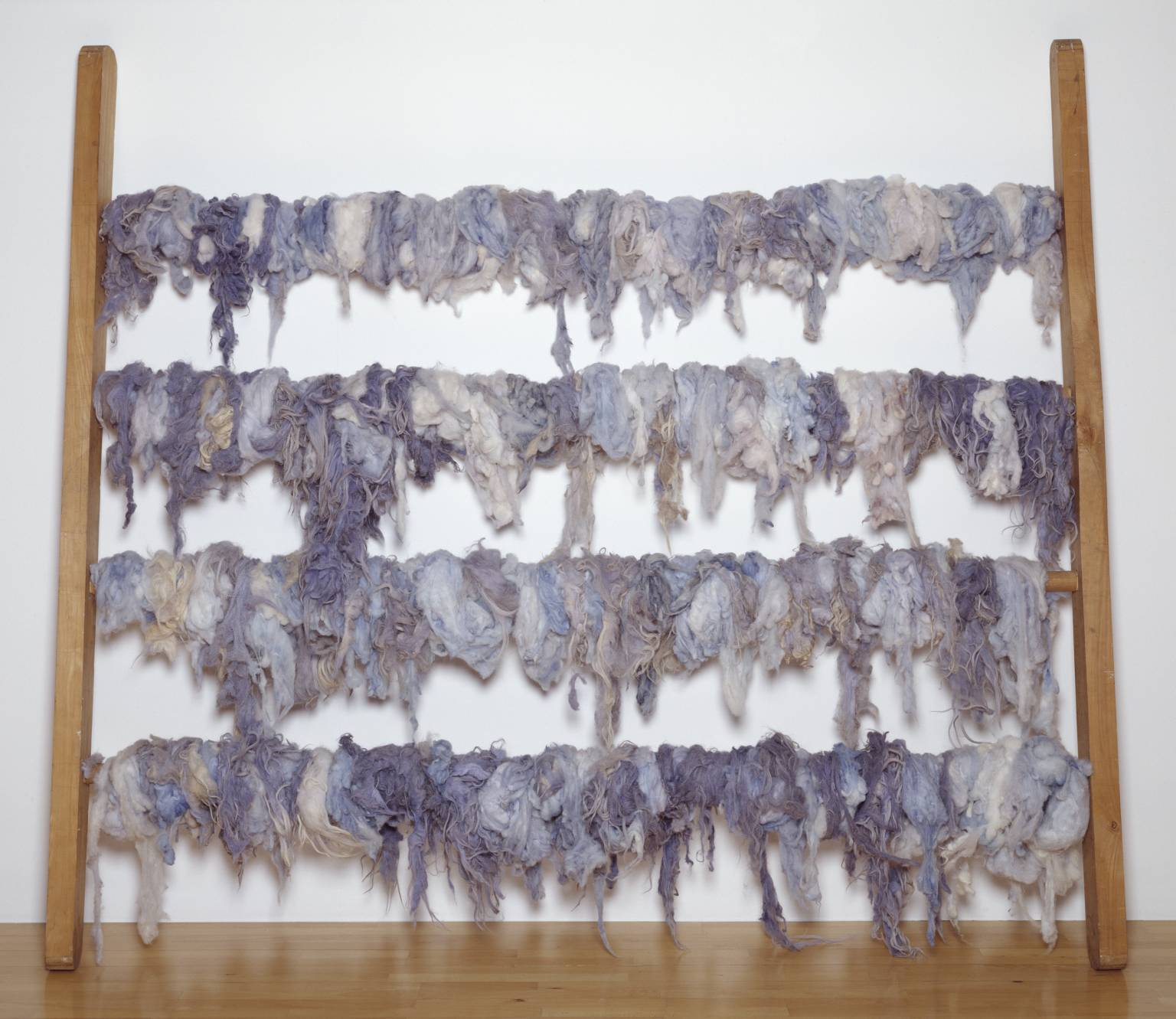 Jannis Kounellis (1968)  Untitled.  Wood and wool.
