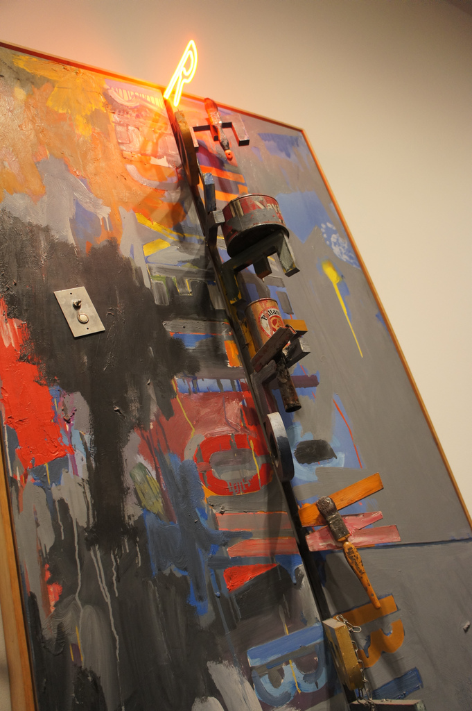 'Field Painting' 1963-64. Oil on canvas with found objects. 182.9 x 93.3 cm.