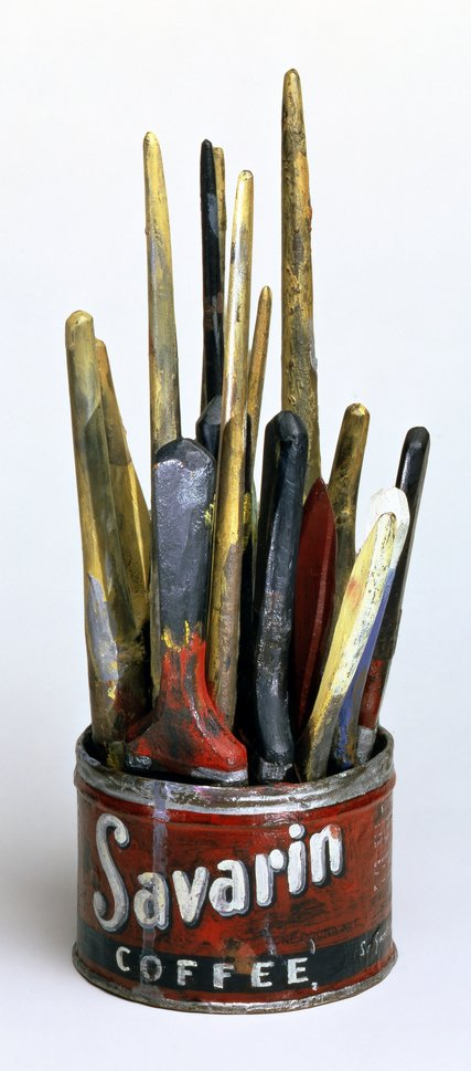 Jasper Johns (1960) Painted Bronze. Painted Bronze. 34.3 x 20.3 cm.