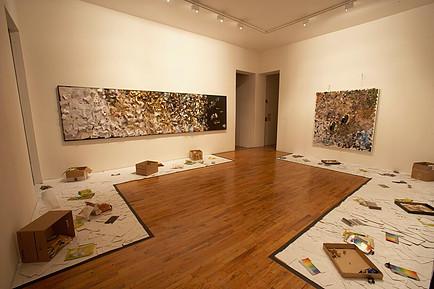 Tomoko Takahashi (2007) Abstract No.1 and Abstract No.2. Installation at Hales Gallery.