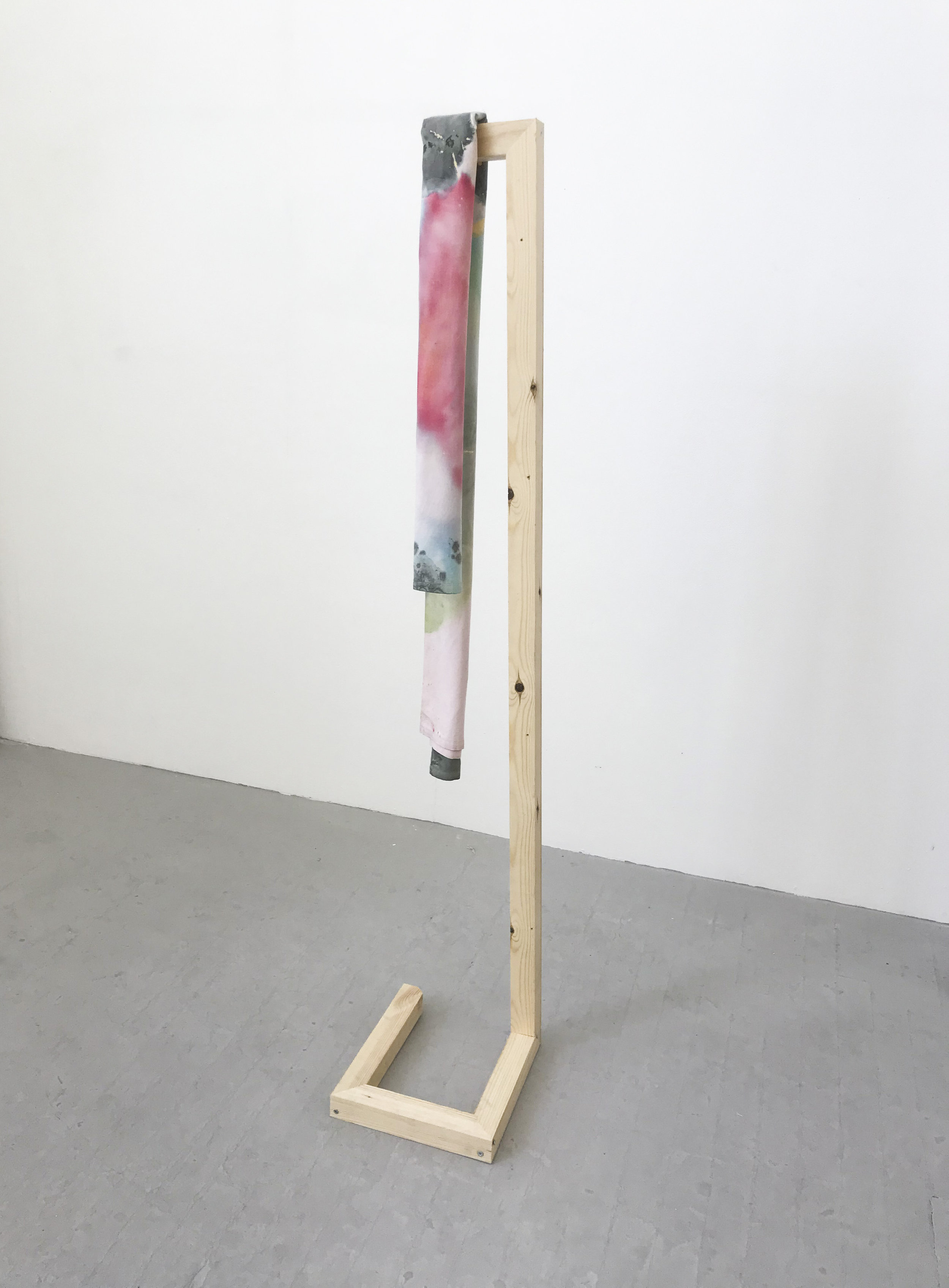 '(Un)translated' [Side View] (2108) Oil on canvas with frame. 155 x 32 x 27 cm.jpg