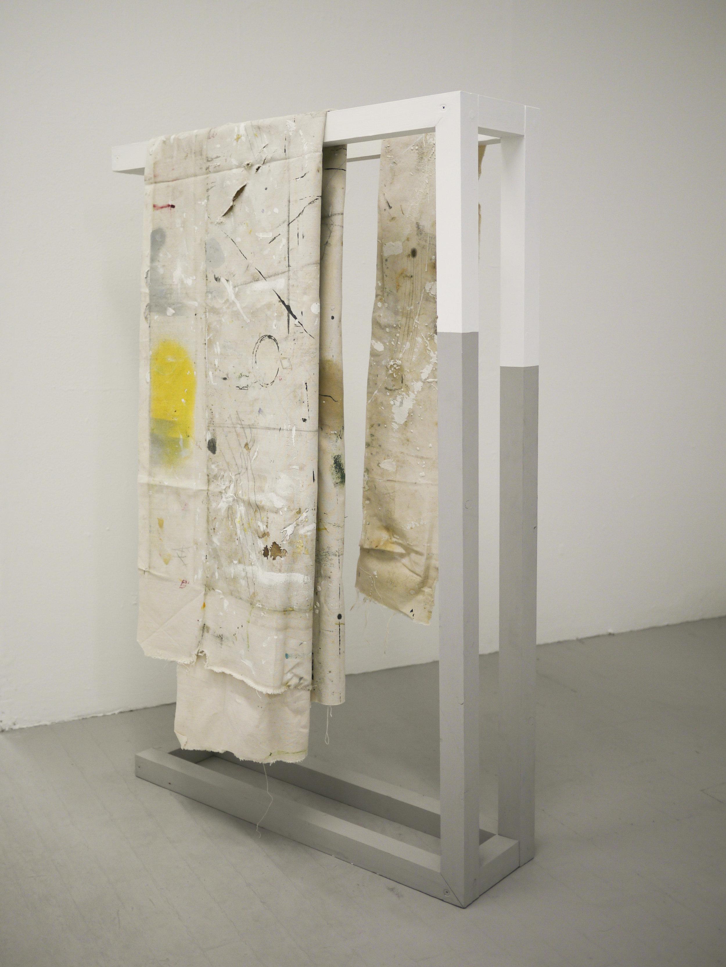 'The Re-Presentation of Artefact' (2018) Canvas on frame, 120 x 75 x 21cm.jpg