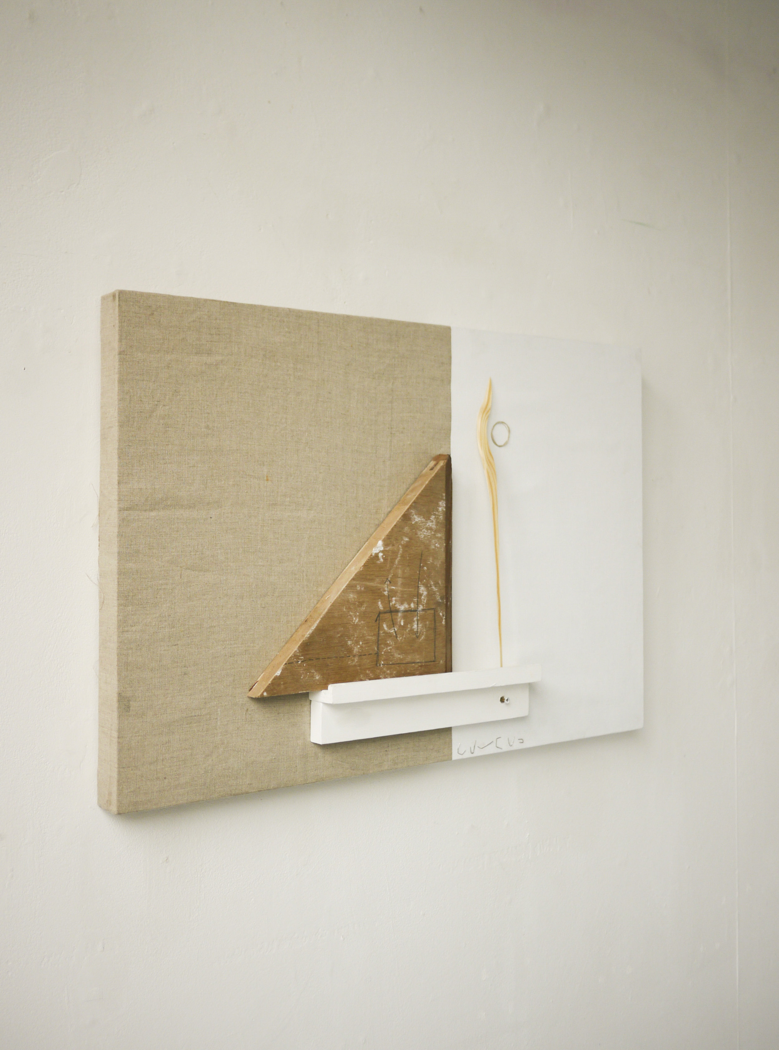 Per Se (2019) [side view] Wood, Canvas, Staples and Acrylic on Linen. 75 x 50 x 8cm.jpg