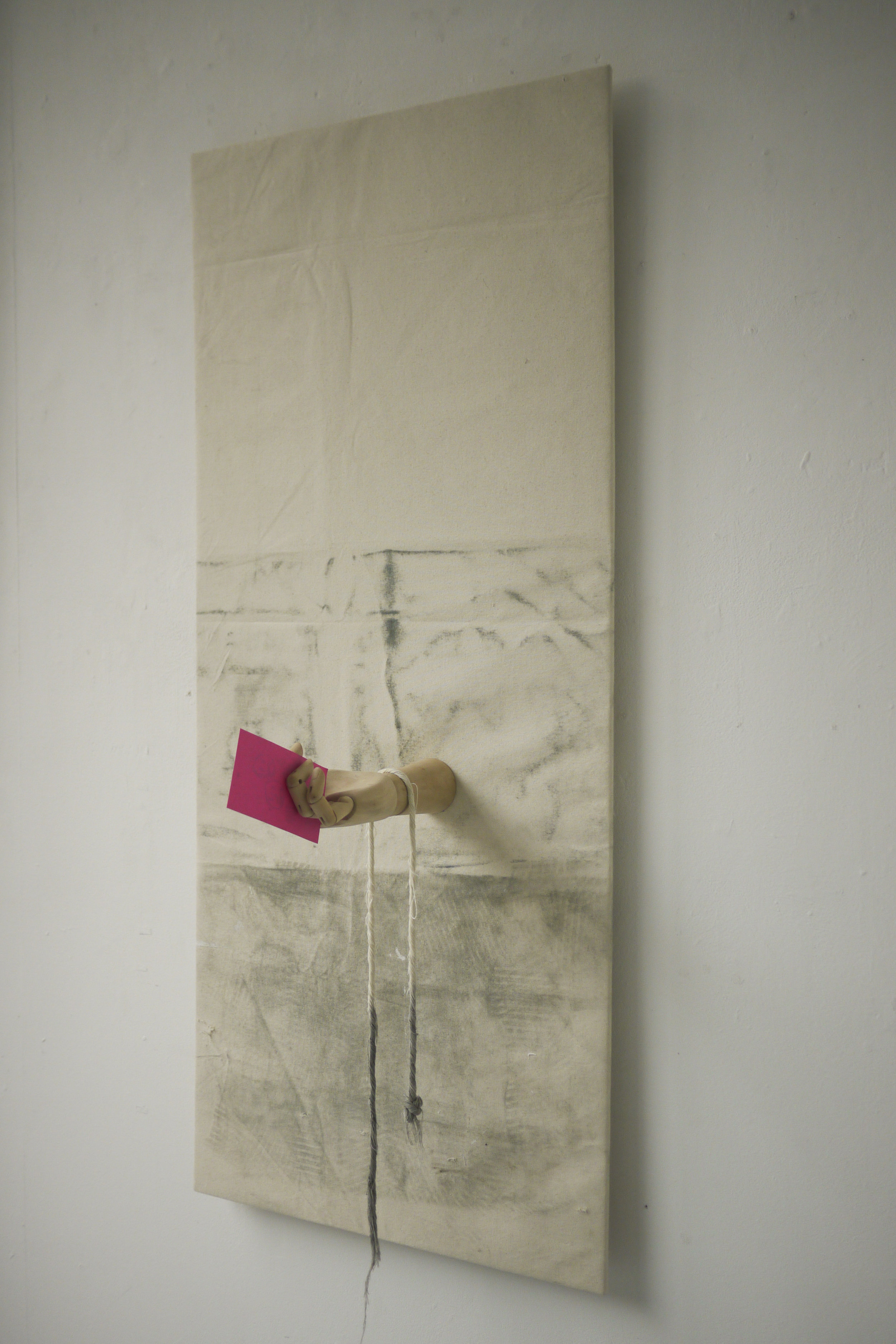 Self (2019) Canvas, wood, paper and collected marks.jpg