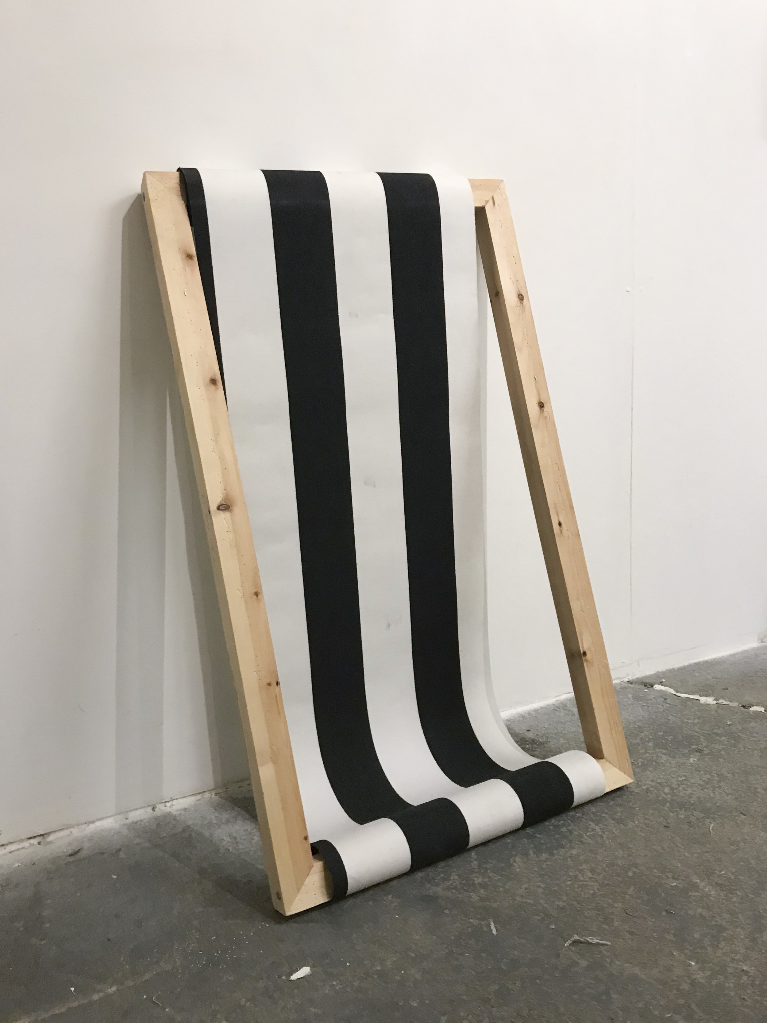 Sign (2018) Stretcher and canvas with stripes. Frame size, 90 x 50 cm.jpg