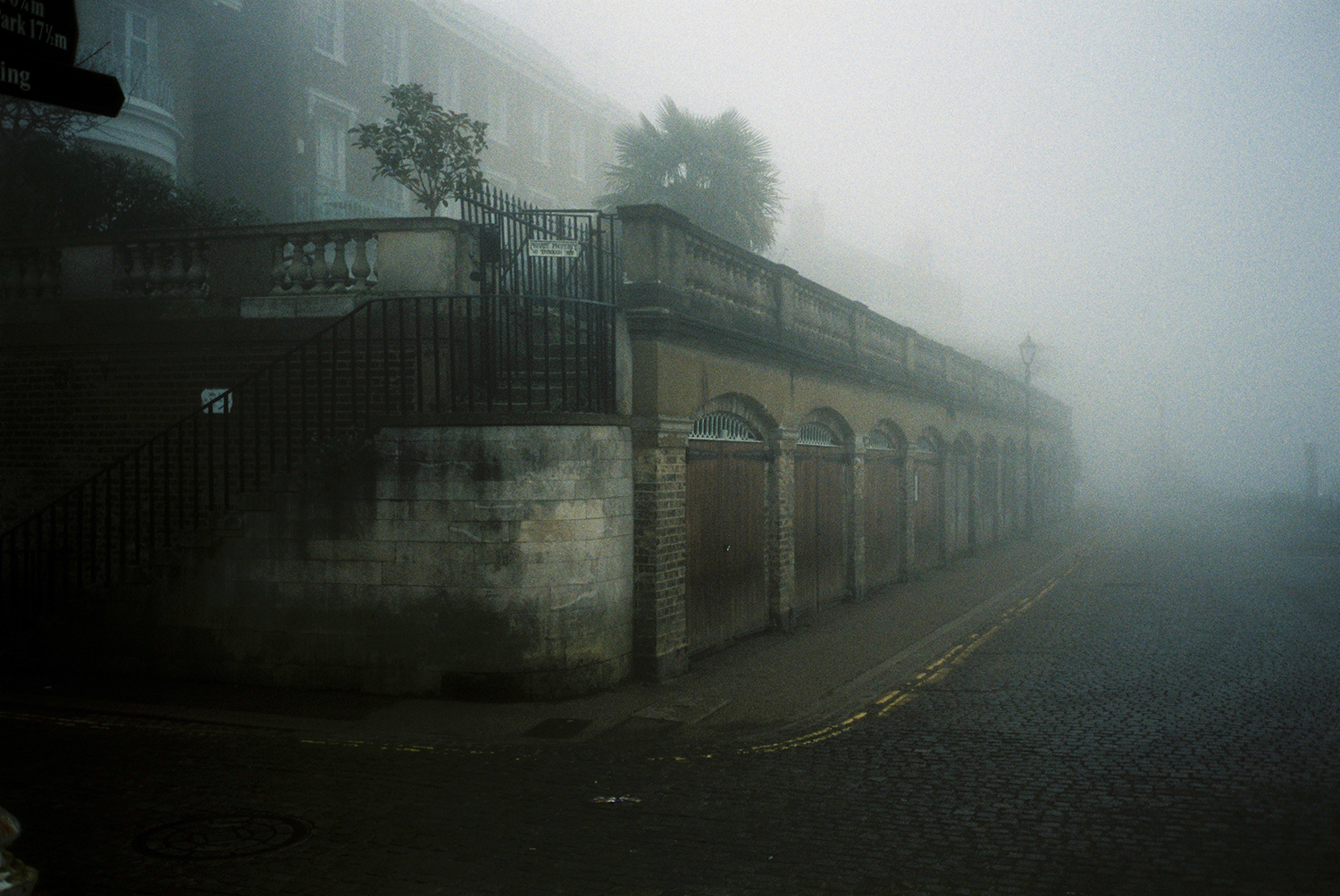 London's Richmond photographed on foggy morning. Taken with a Olympus MjuII camera and Fuji 400H film. By Dmitry Serostanov.