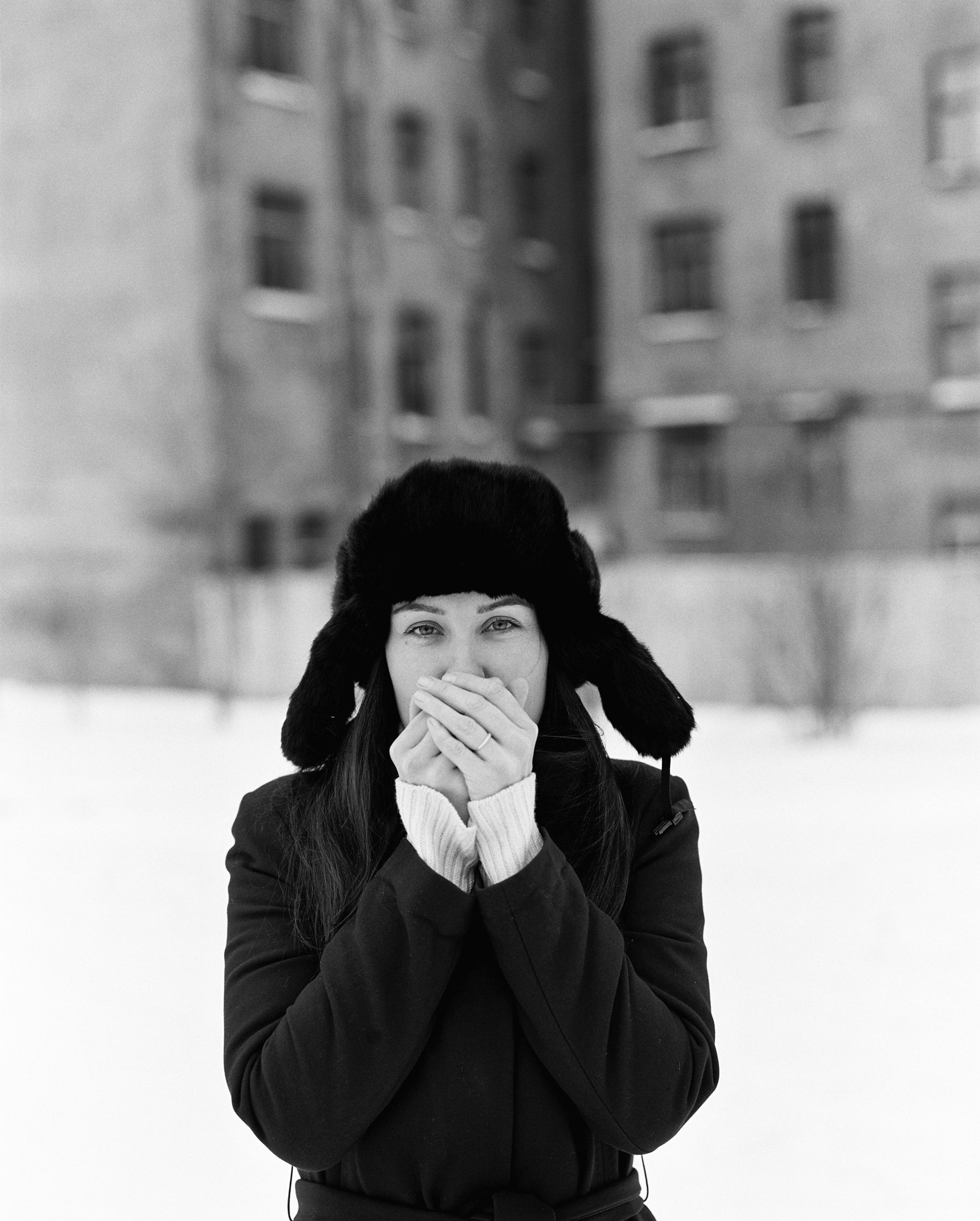 Winter portrait shoot by Dmitry Serostanov