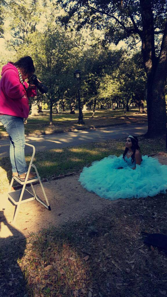 Behind the scenes of Dalilah's Photo Session at Rice University.