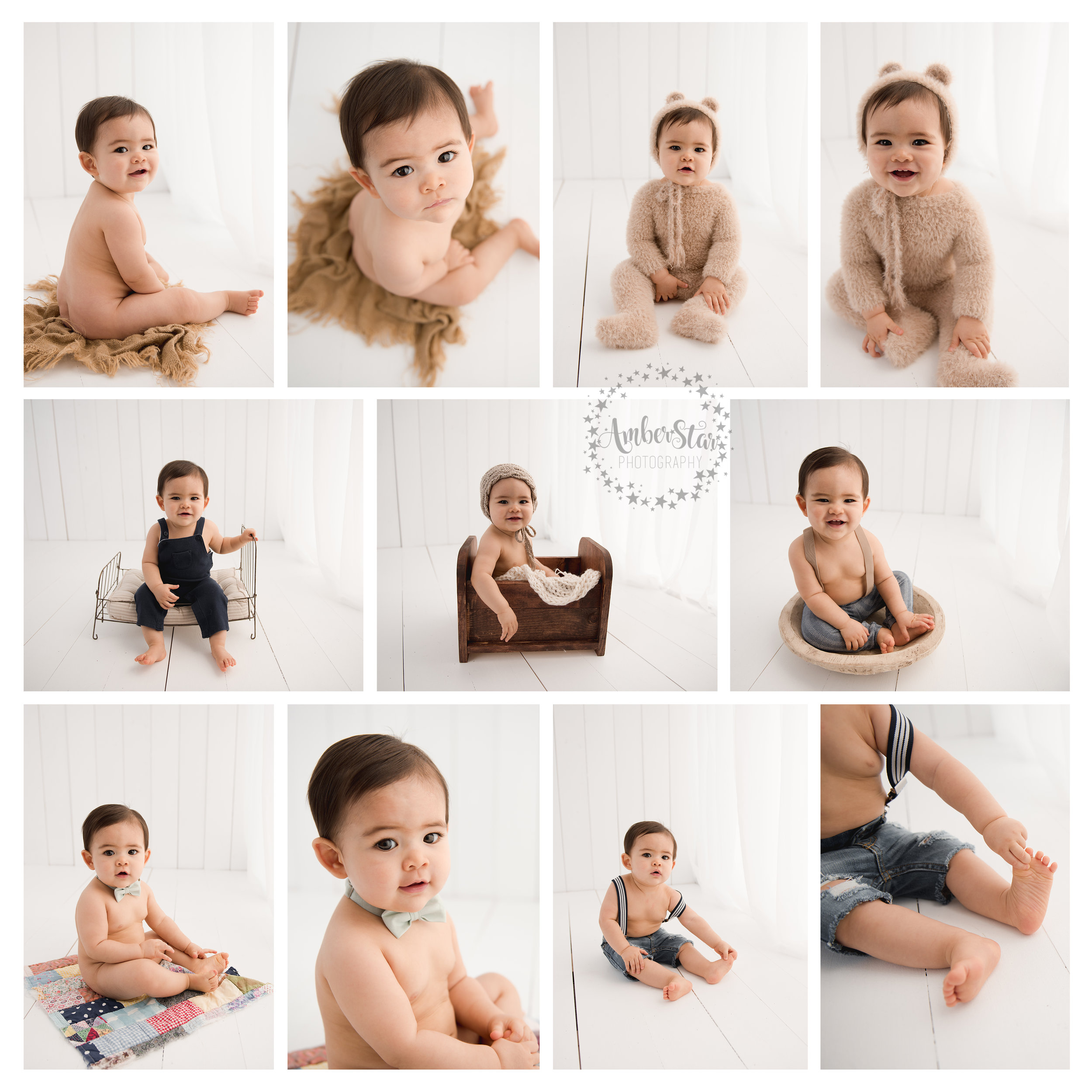 amber star photography + sitter session + child photographer + Houston + spring + the woodlands + Texas + milestone session