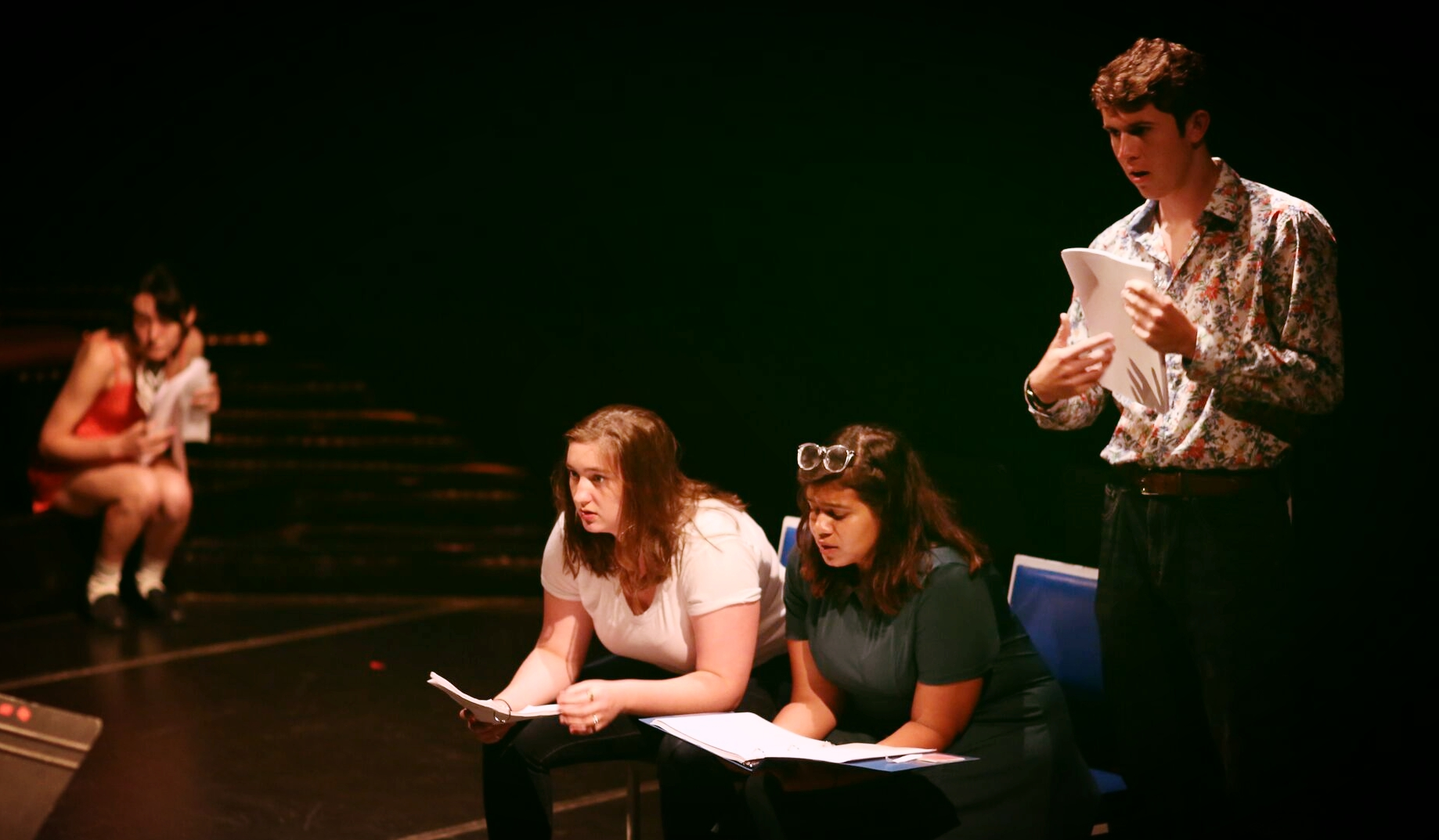(Featured left to right: Rachel Webb, Kelleen Moriarty, Gricelda Ramos, Evan Wetzel | Photo Credit: Rob Strong)