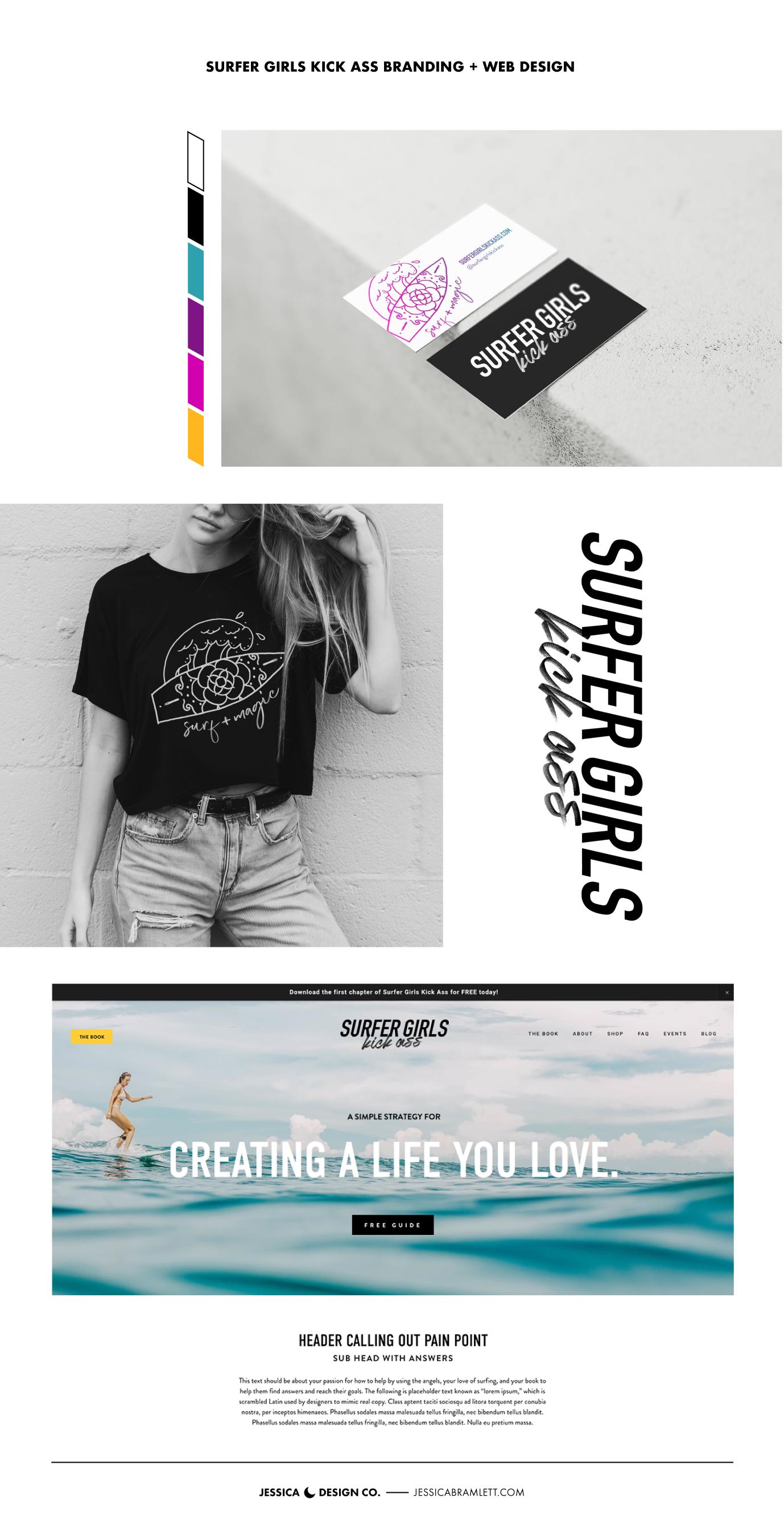 Surfer Girls Kick Ass Branding and Website Design