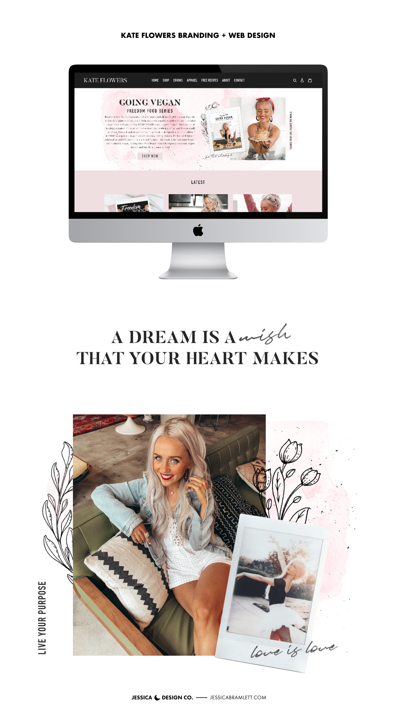 Kate Flowers Branding and Website Design