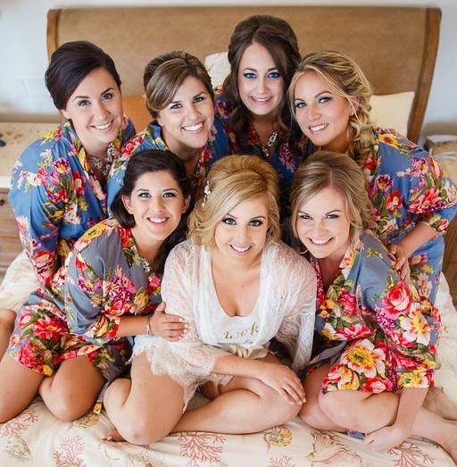 Getting Ready Hair and Makeup Bridesmaids Bride Katie Laines Design and Coordination Floral Robes