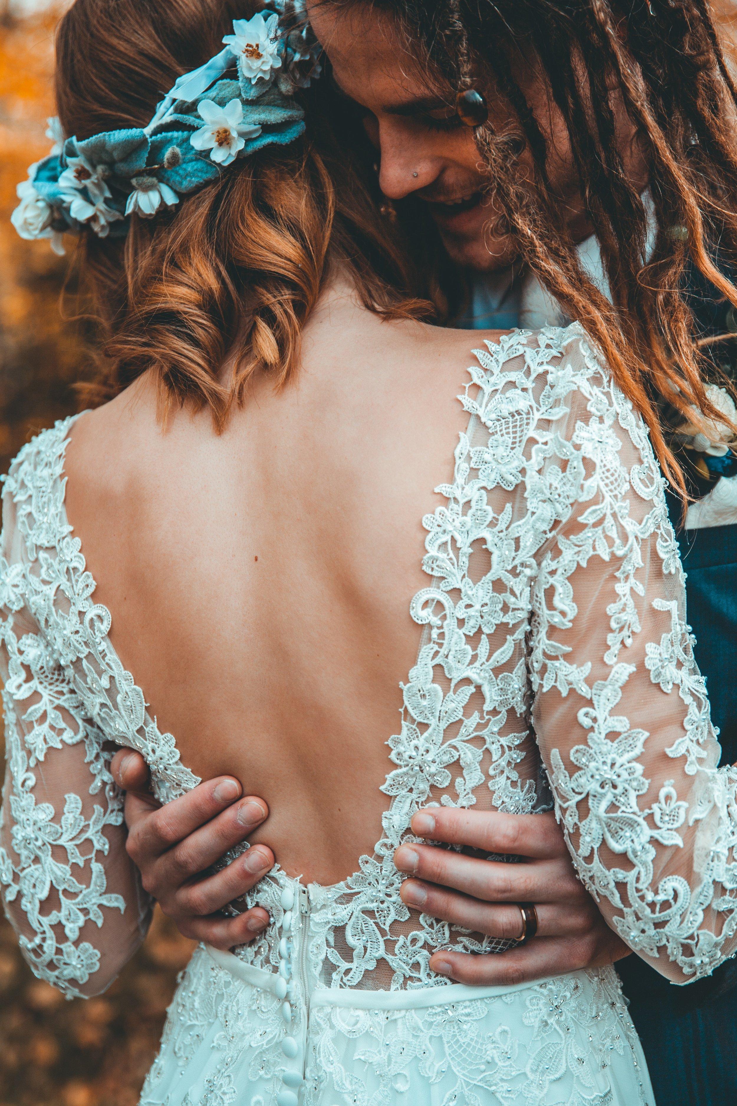 Bay Area Wedding Planner Bohemian Ceremony Headpiece Dreadlocks Flower Crown Gypsy Love Katie Laines Design and Coordination