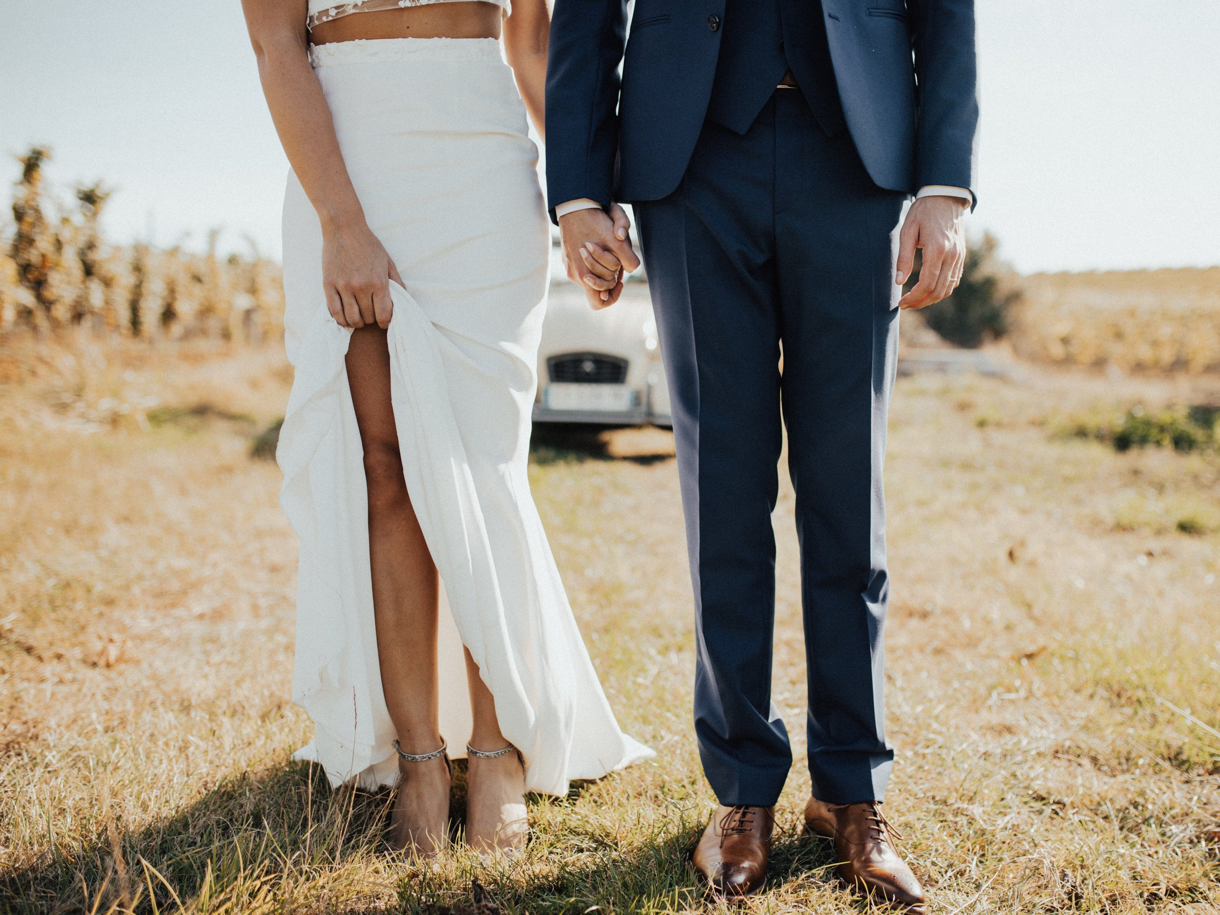 Livermore Wedding Country East Bay Area Rustic Couple Holding Hands Planner Katie Laines Design and Coordination