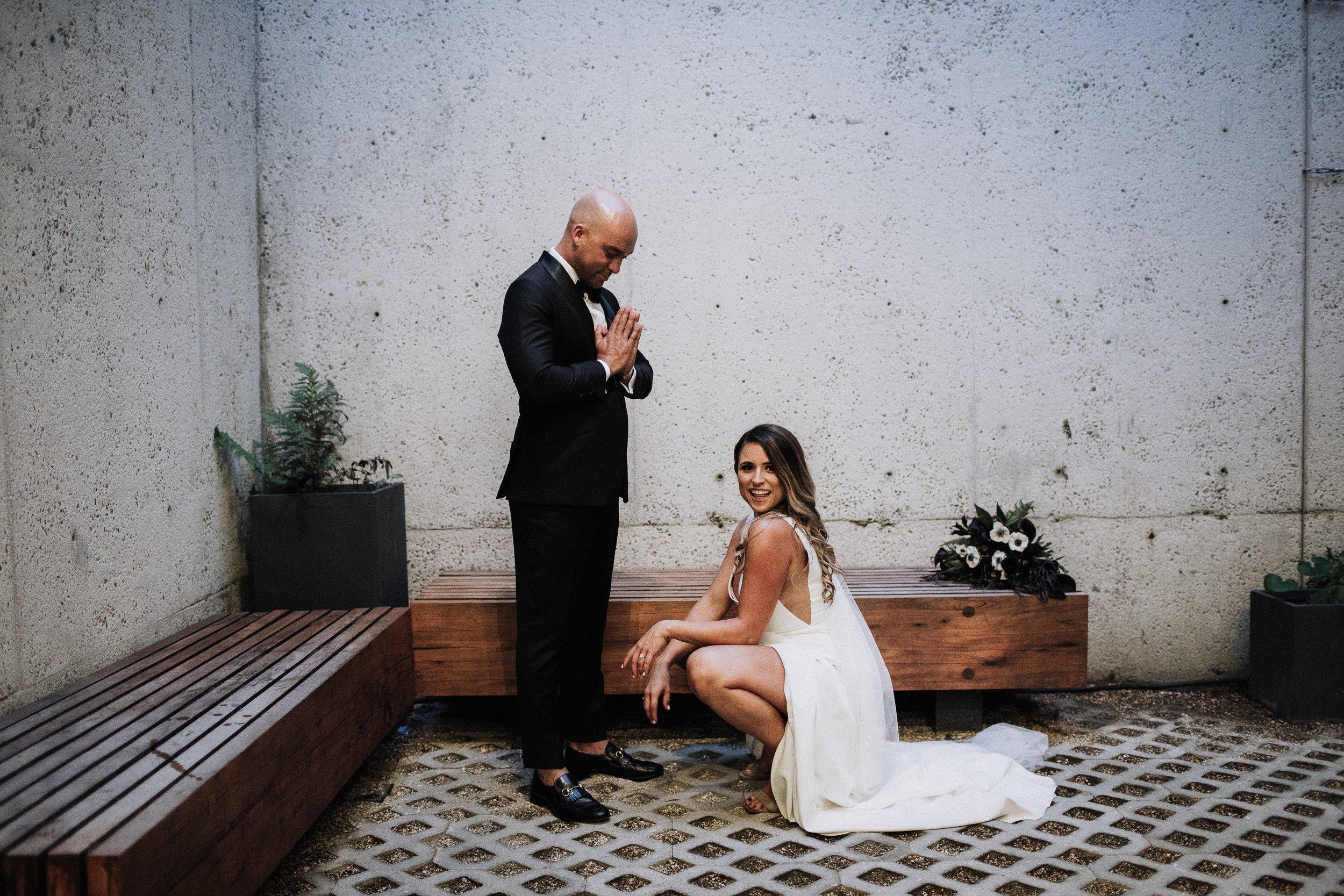 Lauren and Ryan Wedding Bride and Groom Models Oakland Museum of California KLdc