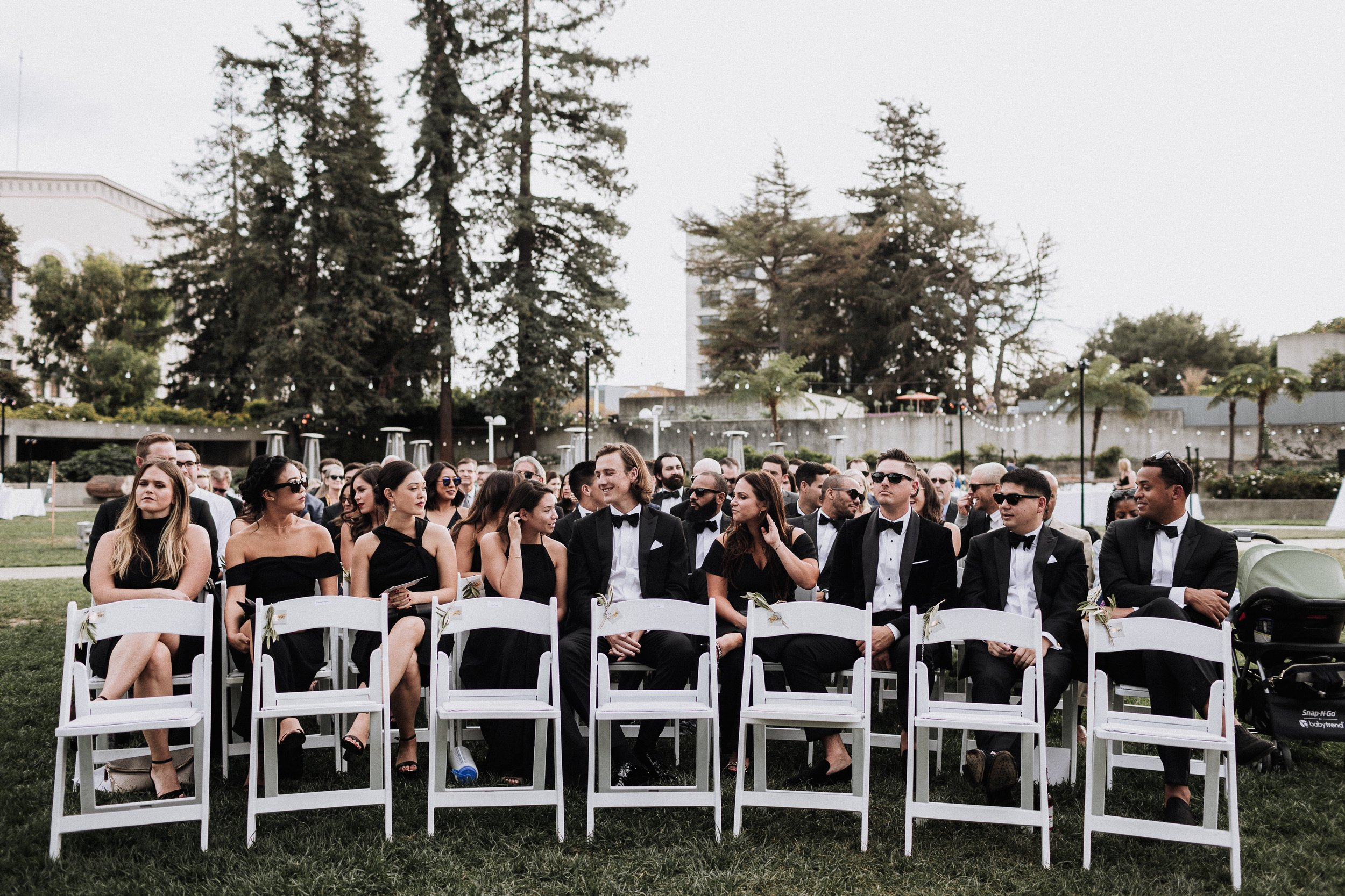 Seated Wedding Guests Saved Front Row Oakland Museum of California KLdc