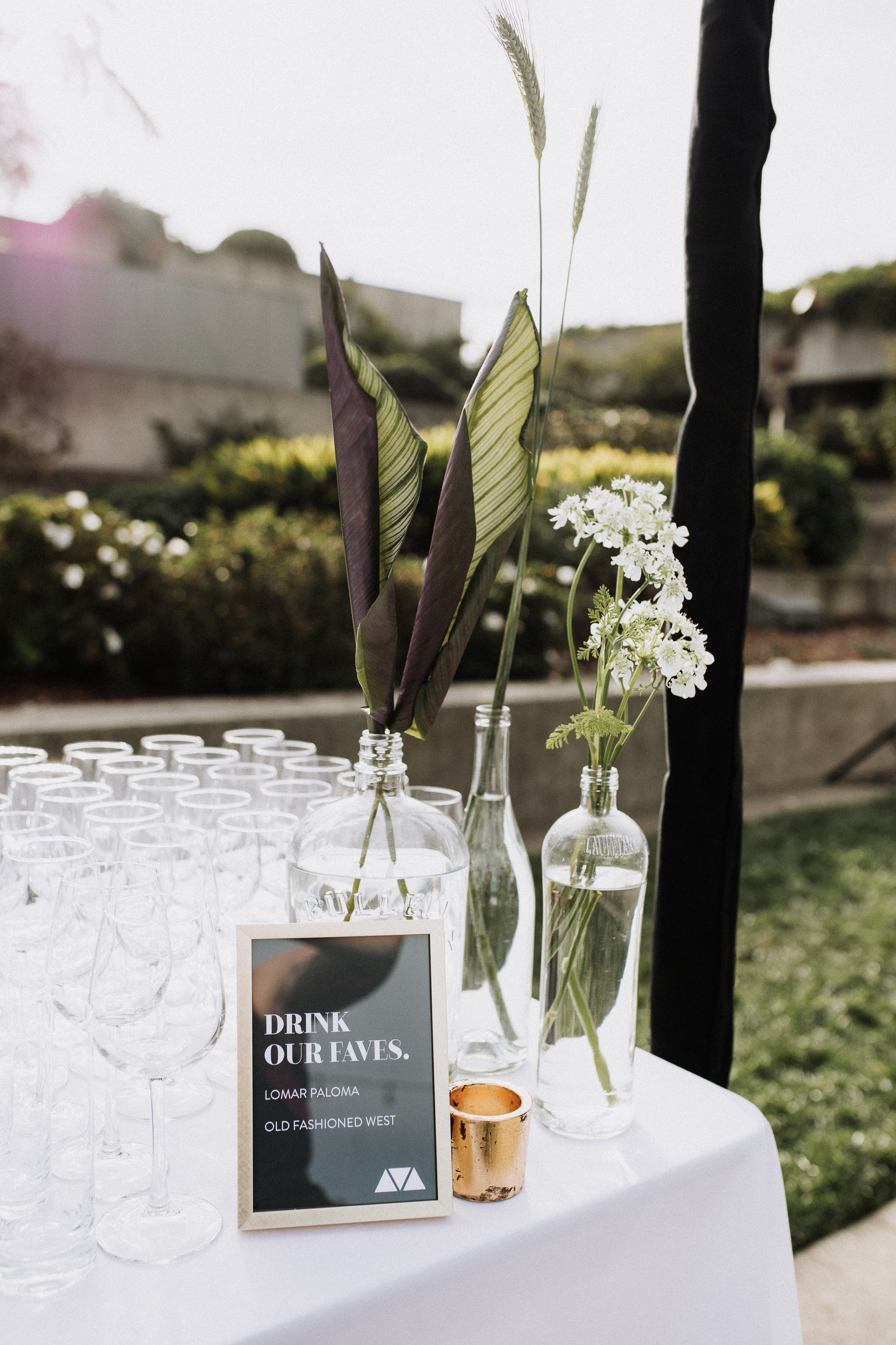 Bar Signature Drink Menu Wedding Part Oakland Museum KLdc Lomar Paloma and Old Fashioned West