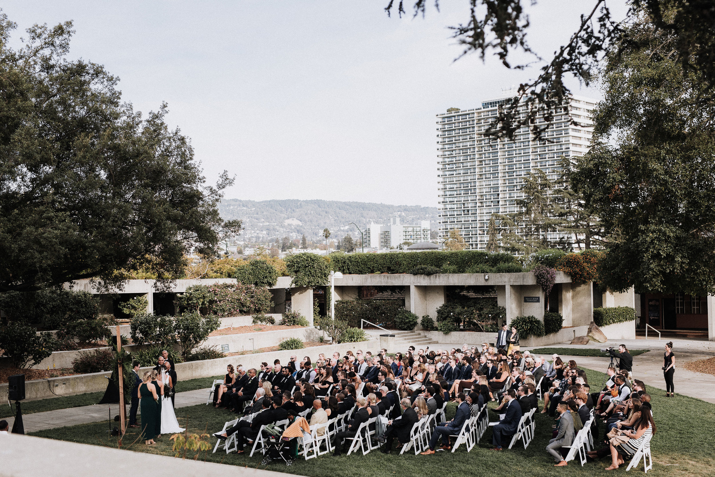 Wedding Ceremony at The Oakland Museum of California Katie Laines design and coordination