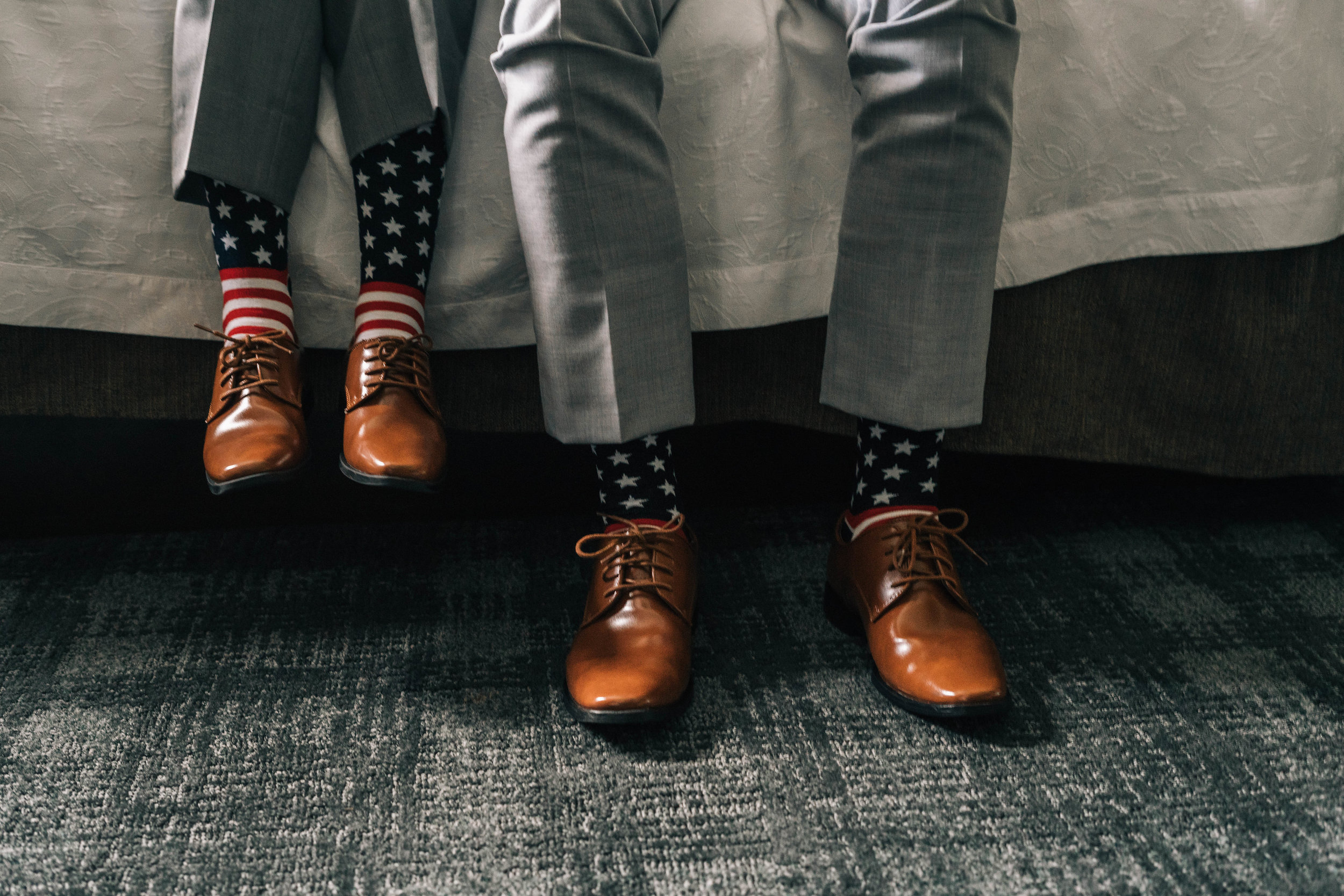 United States Socks Groom Is In The Armed Forces With Son