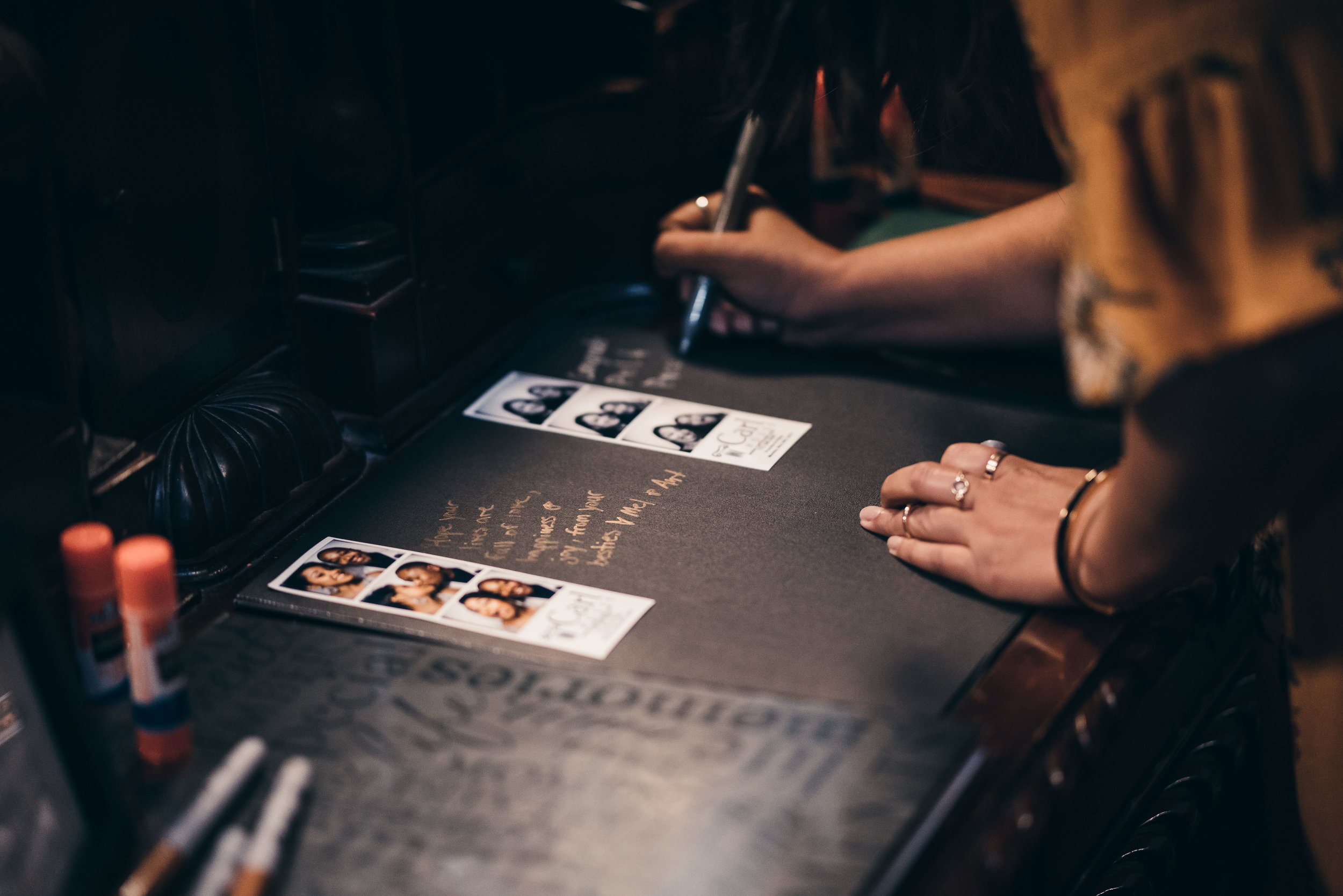 Guest Signing The Guest Book Photobooth Photos Strip