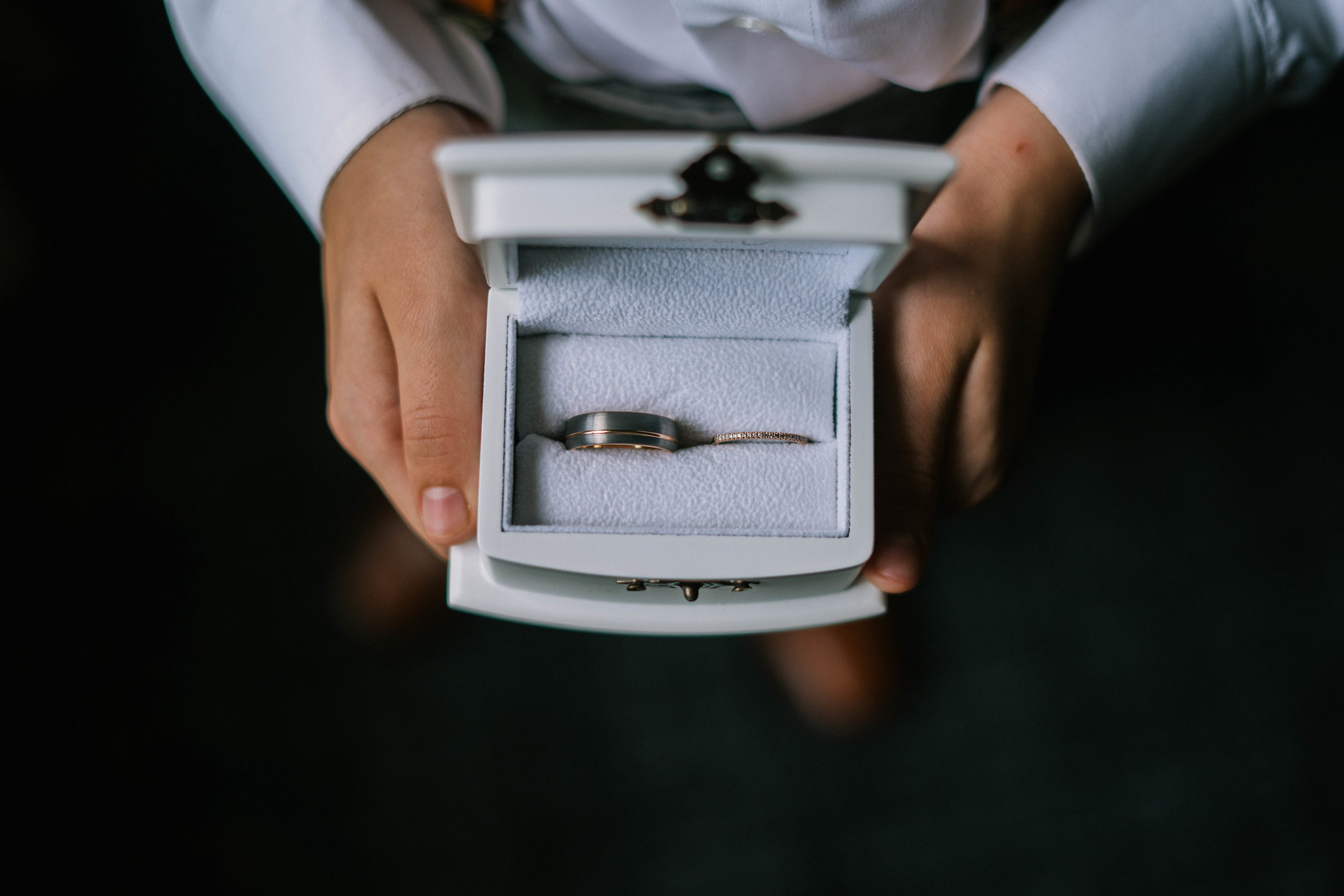 His and Hers Ring Box Ring Bearer