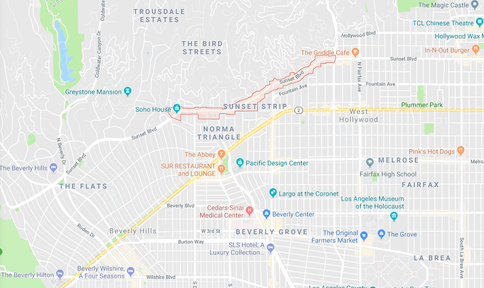 Sunset Strip Map