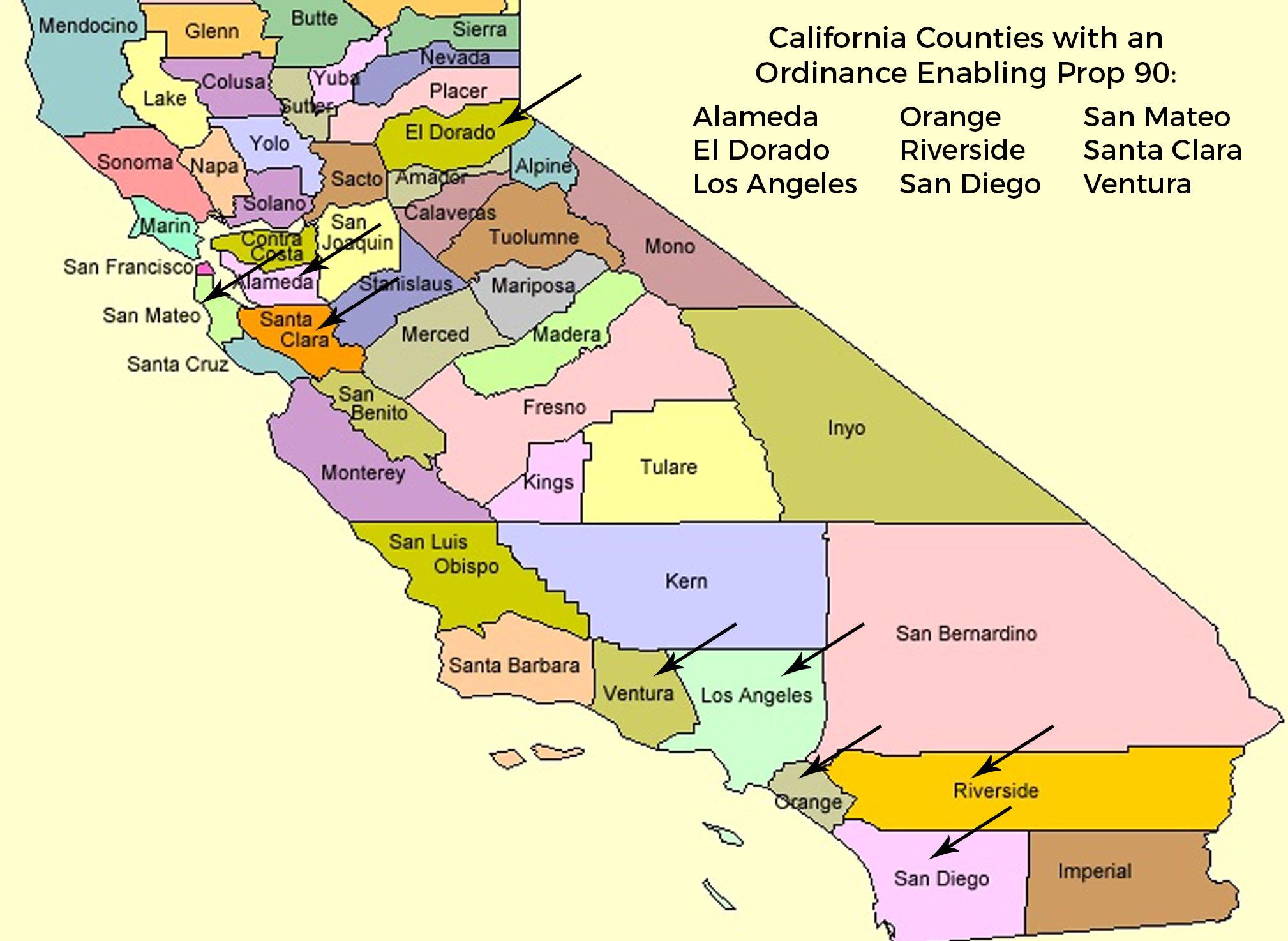 Prop 90 Counties