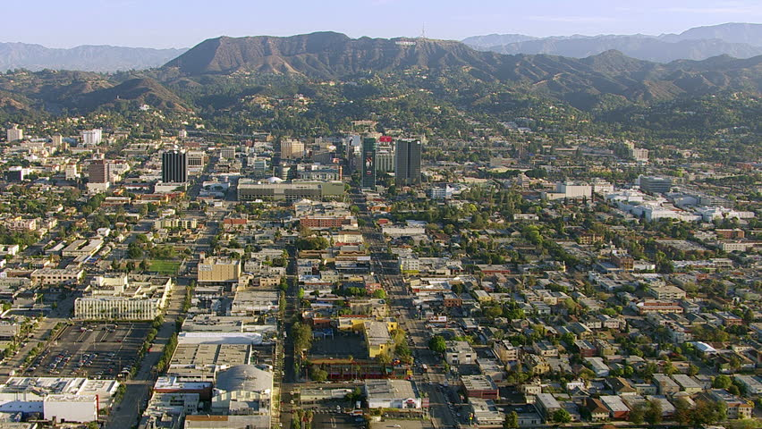 Hollywood, CA from Above