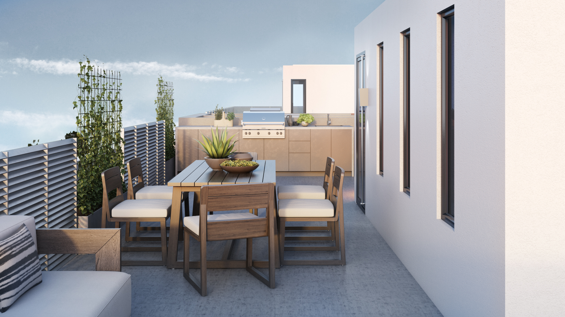 Dine Alfresco on Private Roof Deck