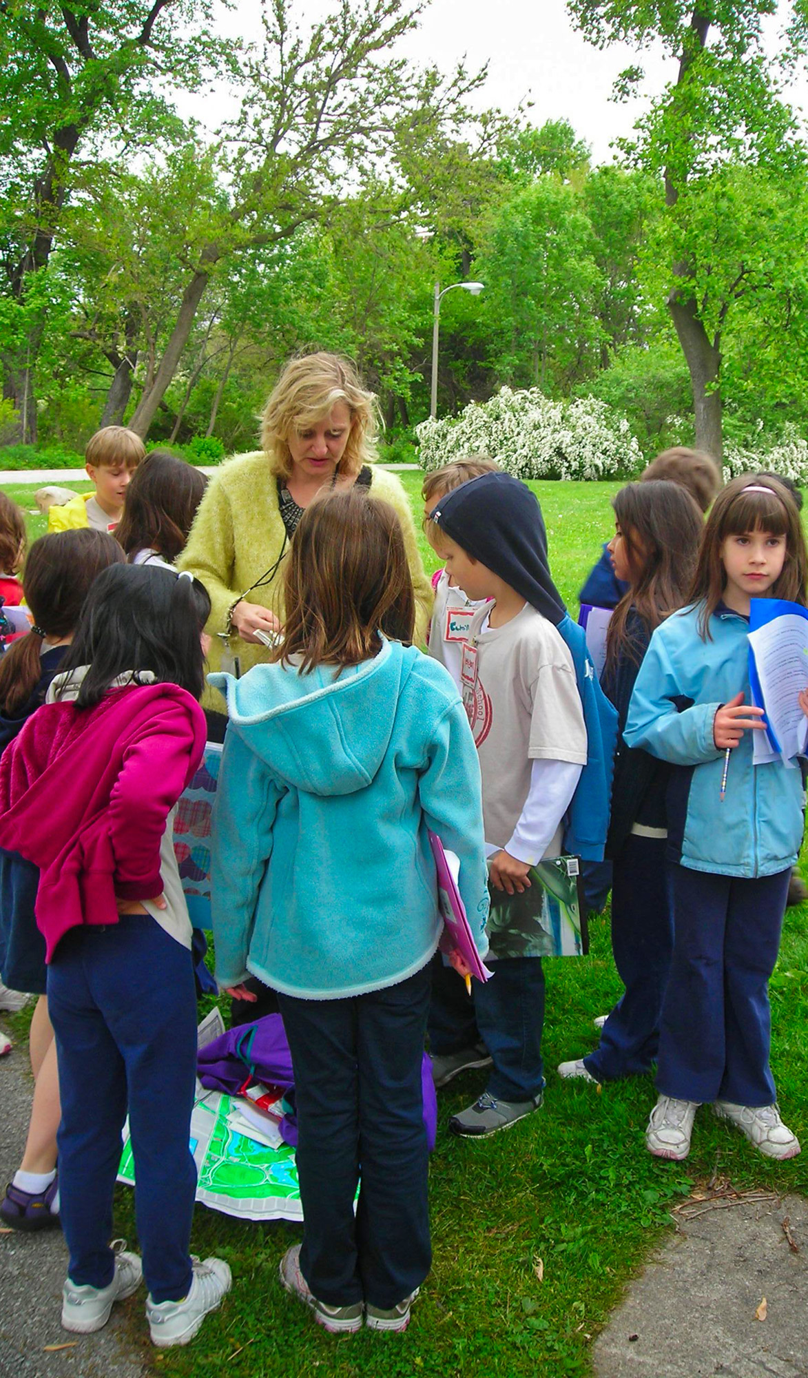 Discovery tour of Jackson Park with second graders, 2009.