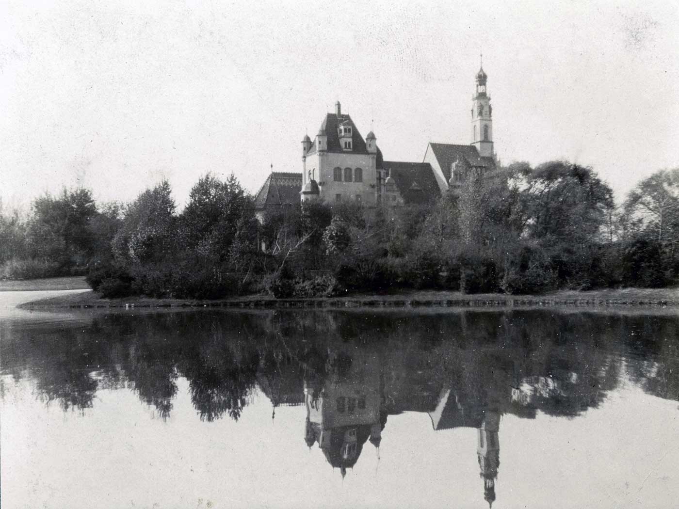 Jackson Park German Building, Series II, University of Chicago, Special Collections Research Center, apf2-04510, 1904.