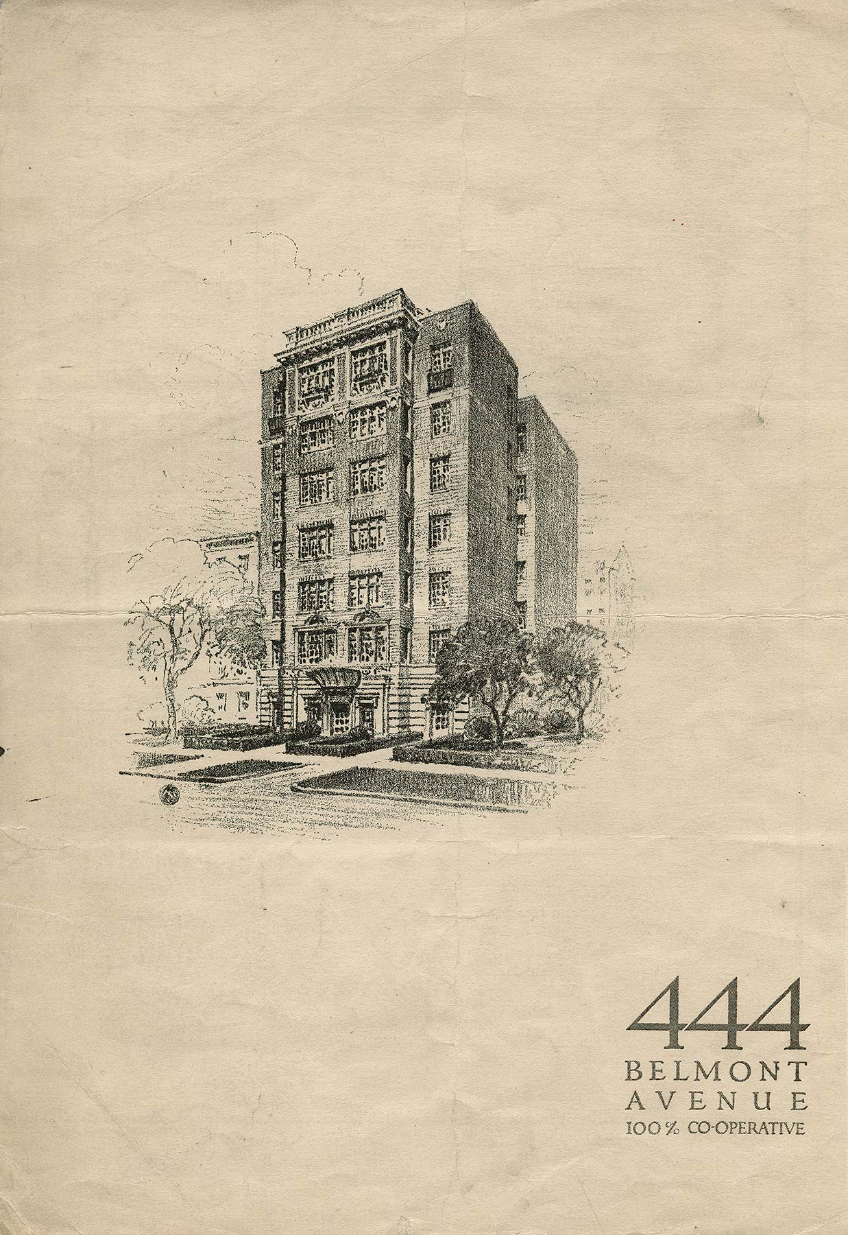 Oman & Lilienthal became well known for designing luxury rental and cooperative apartments in the 1920s, including 444 W. Belmont Avenue, Chicago, IL. Oman & Lilienthal, architect. McNally & Quinn Records, Ryerson and Burnham Archives, The Art Institute of Chicago. Digital File #198002_150806-015.