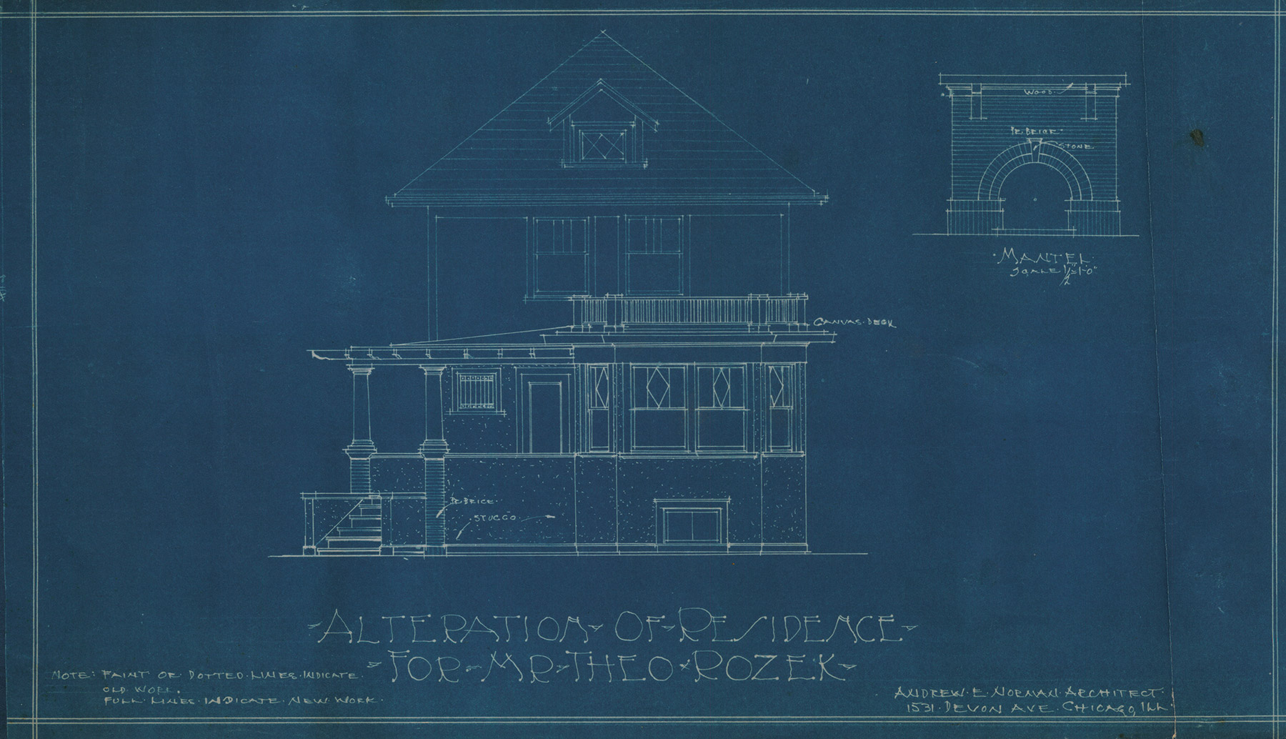 Andrew E. Norman designed a front addition for the Rozek House in the late 1920s. Courtesy of Julia Bachrach.