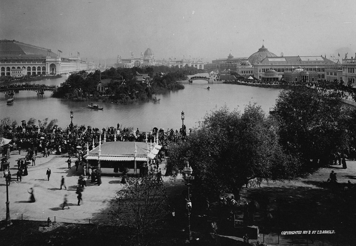 World's Columbian Exposition, view south from Illinois Building, 1893. Photograph by C.D. Arnold, courtesy of Chicago Public Library, Special Collections, WCE CDA 9.10.