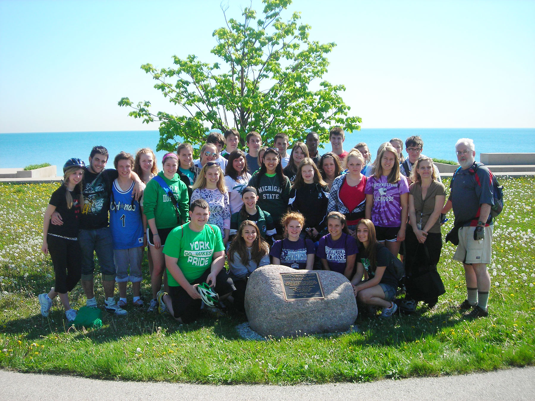 In 2009, Mike Torney and his students from York High School in Elmhurst, IL, underwrote and dedicated a plaque at Chicago's 31st Street Beach commemorating the lives of the victims of Chicago's Race Riot.