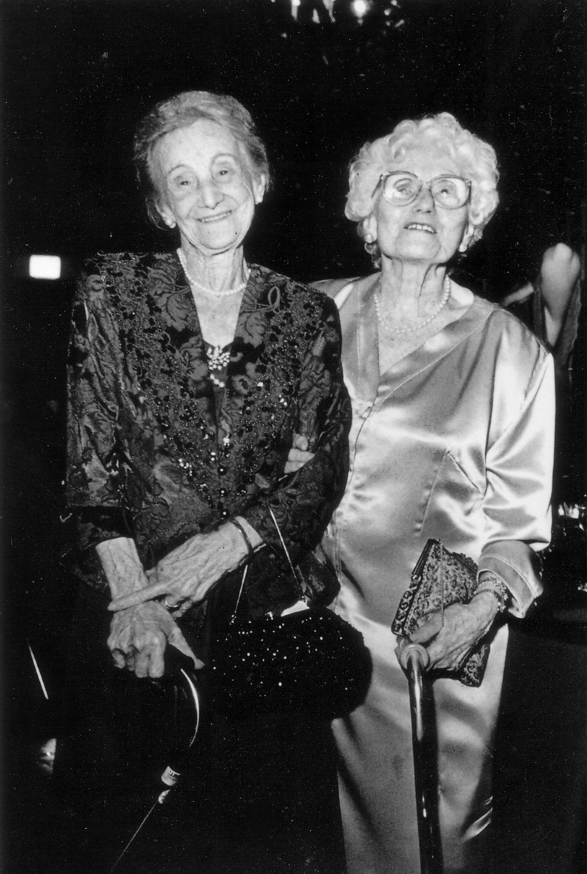 Aunt Sharika, left, and Grandma Piri, right, 1996.