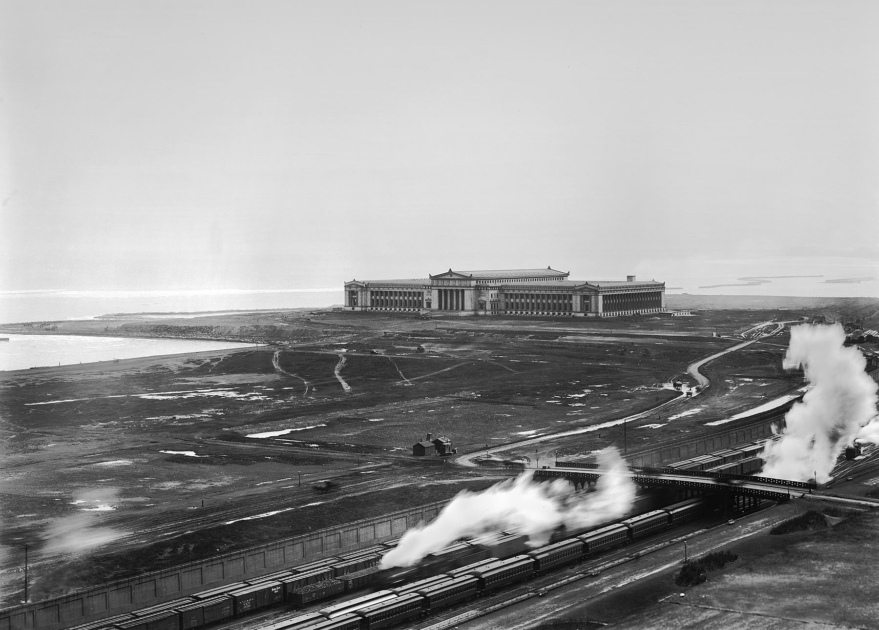 Grant Park Extension and Field Museum, ca. 1920. Chicago Park District Records: Photographs, Special Collections, Chicago Public Library.