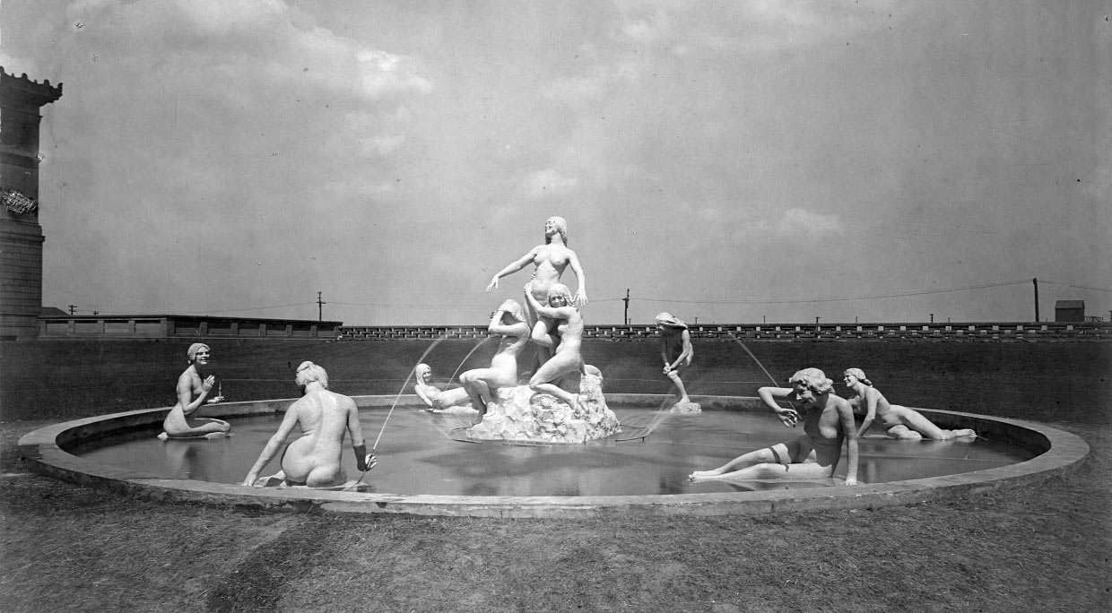 Nymph Fountain , 1899. Courtesy of University of Illinois Archives.