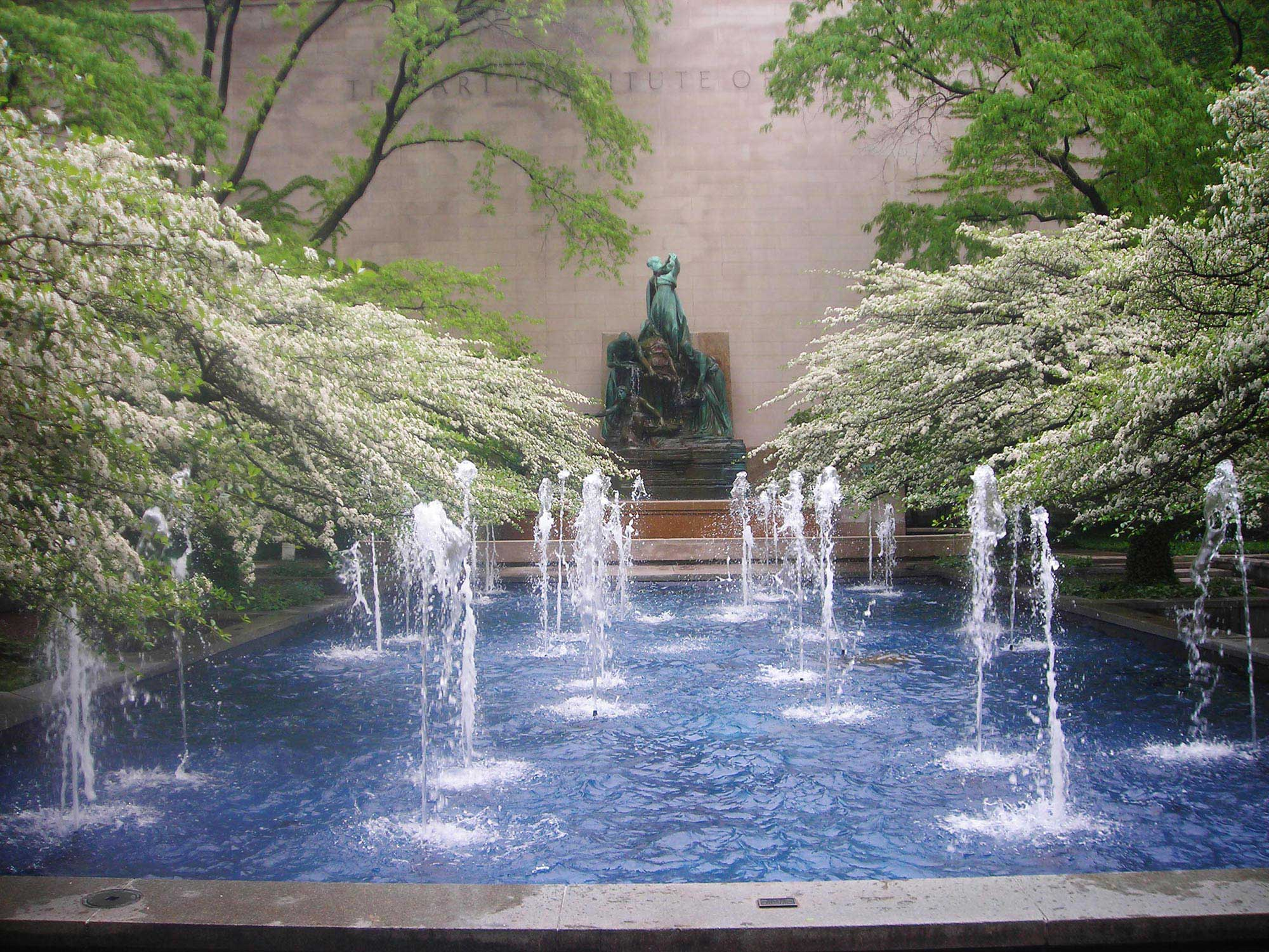 Fountain of the Great Lakes   and South Garden, 2010. Photo by Julia Bachrach.