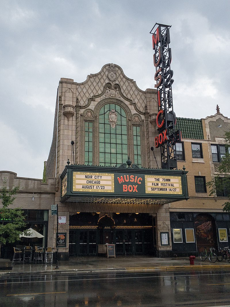 Music Box Theater. Photo courtesy of Wikicommons.