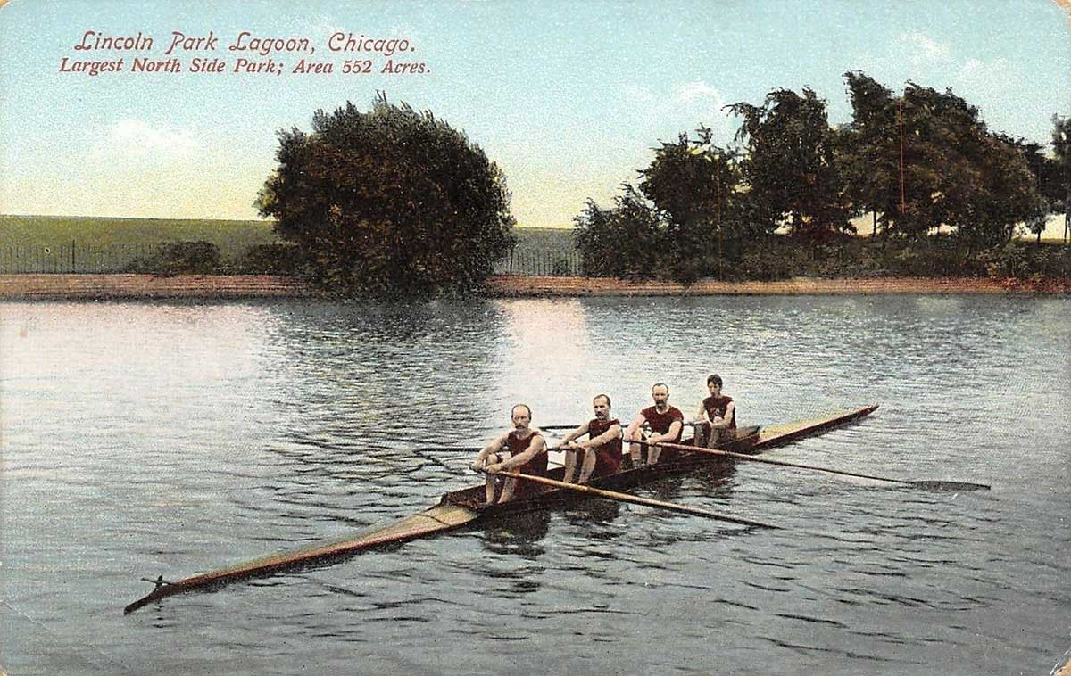 Postcard view of South Lagoon, ca. 1900.