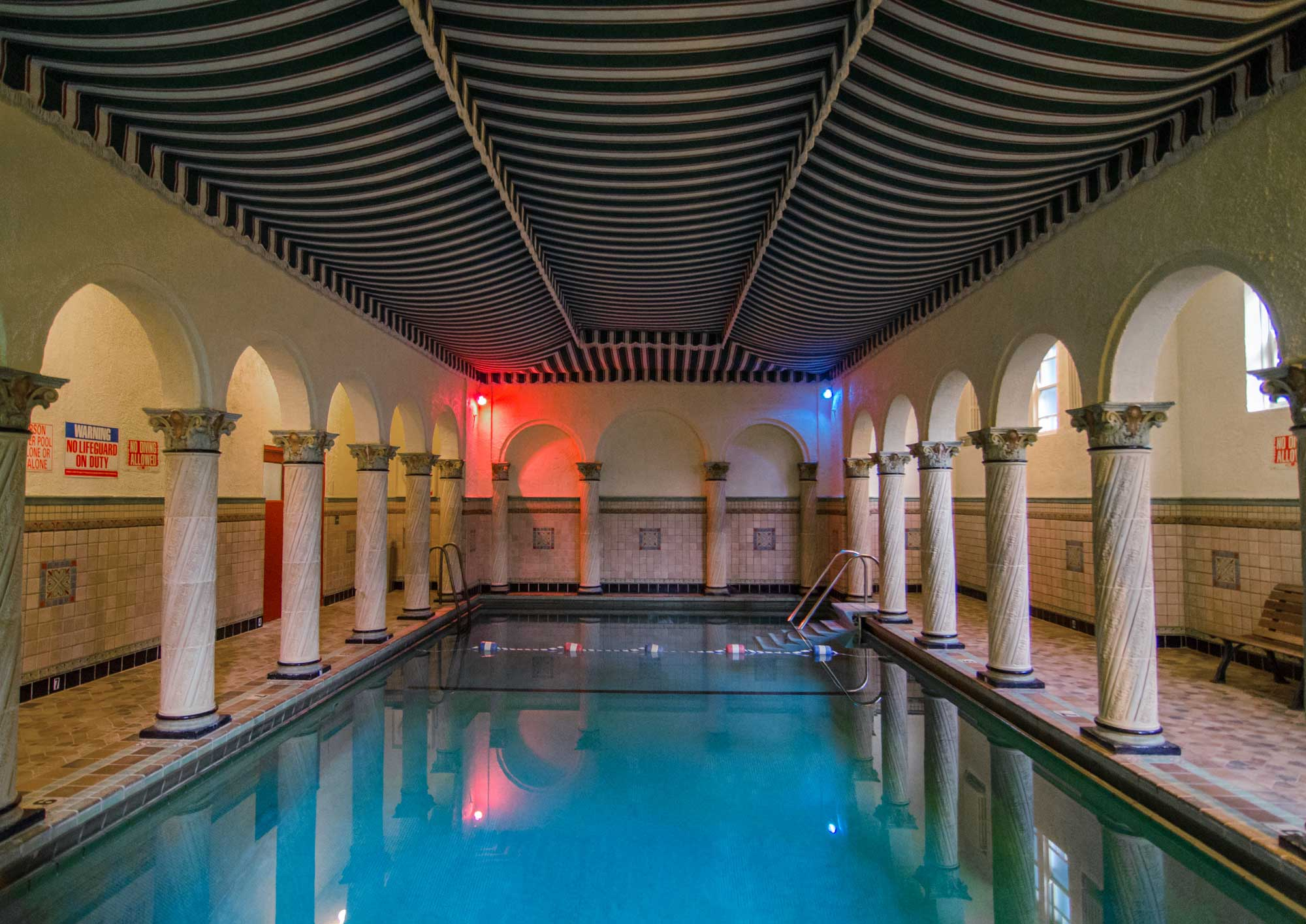 Indoor Swimming Pool at the Park Gables. Photo by Eric Allix Rogers.