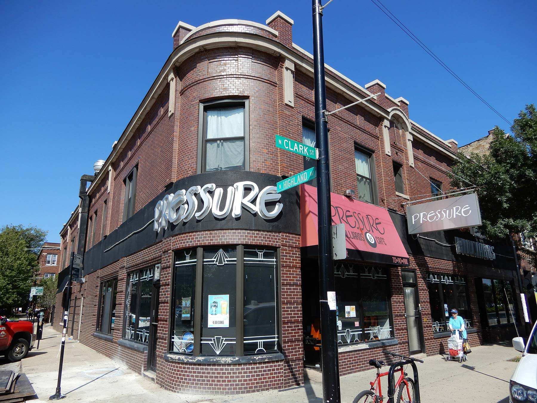 Norman designed this building at 6318-6320 N. Clark St. in 1909 to house a saloon with flats above. Photo by Julia Bachrach.