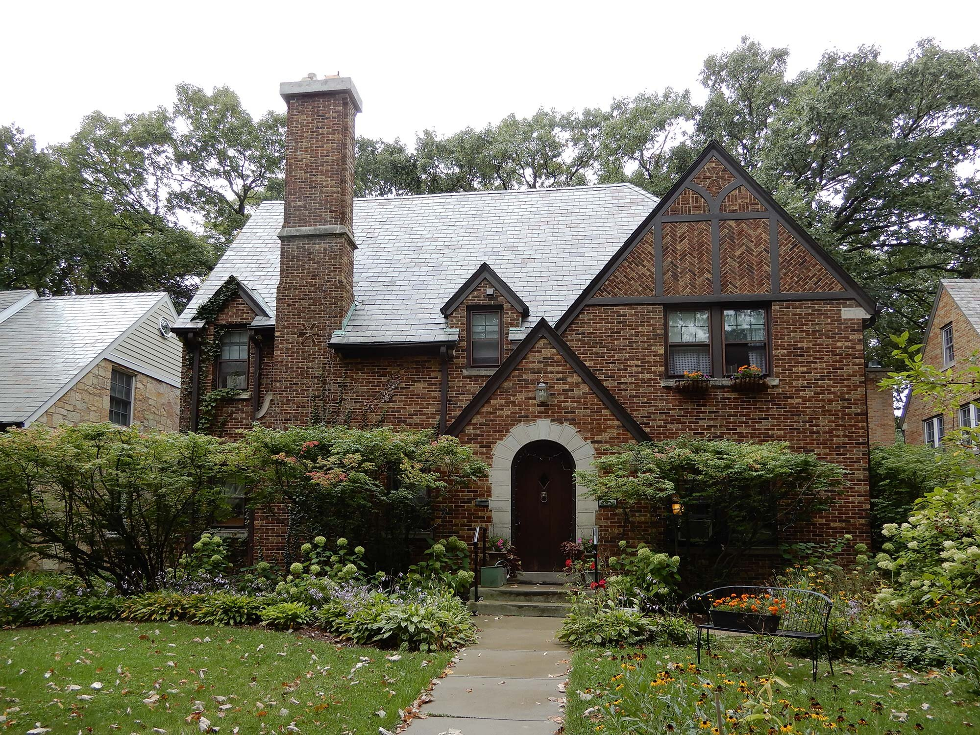 Bertha Yerex Whitman designed this fine single-family house, built in 1930 at 2430 Central Park Avenue in Evanston, Illinois. Photo by Julia Bachrach.