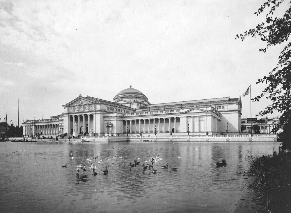 Finished Palace of Fine Arts, 1893. Photograph by C.D. Arnold. Chicago Public Library, C.D. Arnold Photographic Collection, Volume III, Plate 42.