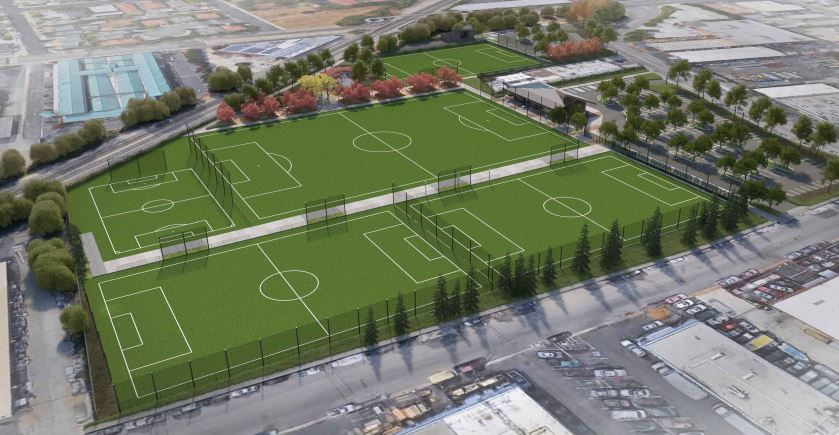 Reed and Grant Sports Park   Scope of work includes full electrical package for sports lighting, site lighting, main switchgear, and concession building including low voltage, fire alarm, and photovoltaic. Owner of the project is City of Santa Clara and the General Contractor is O.C Jones, Inc.