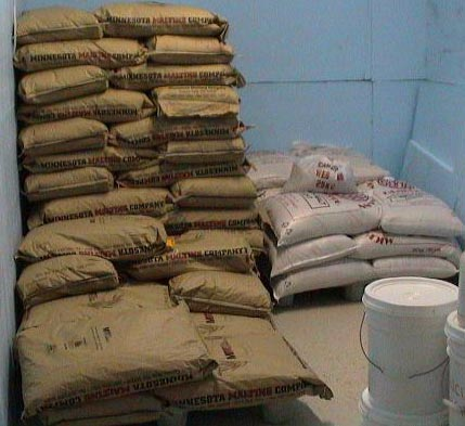 Stacks of Barley and malt.JPG